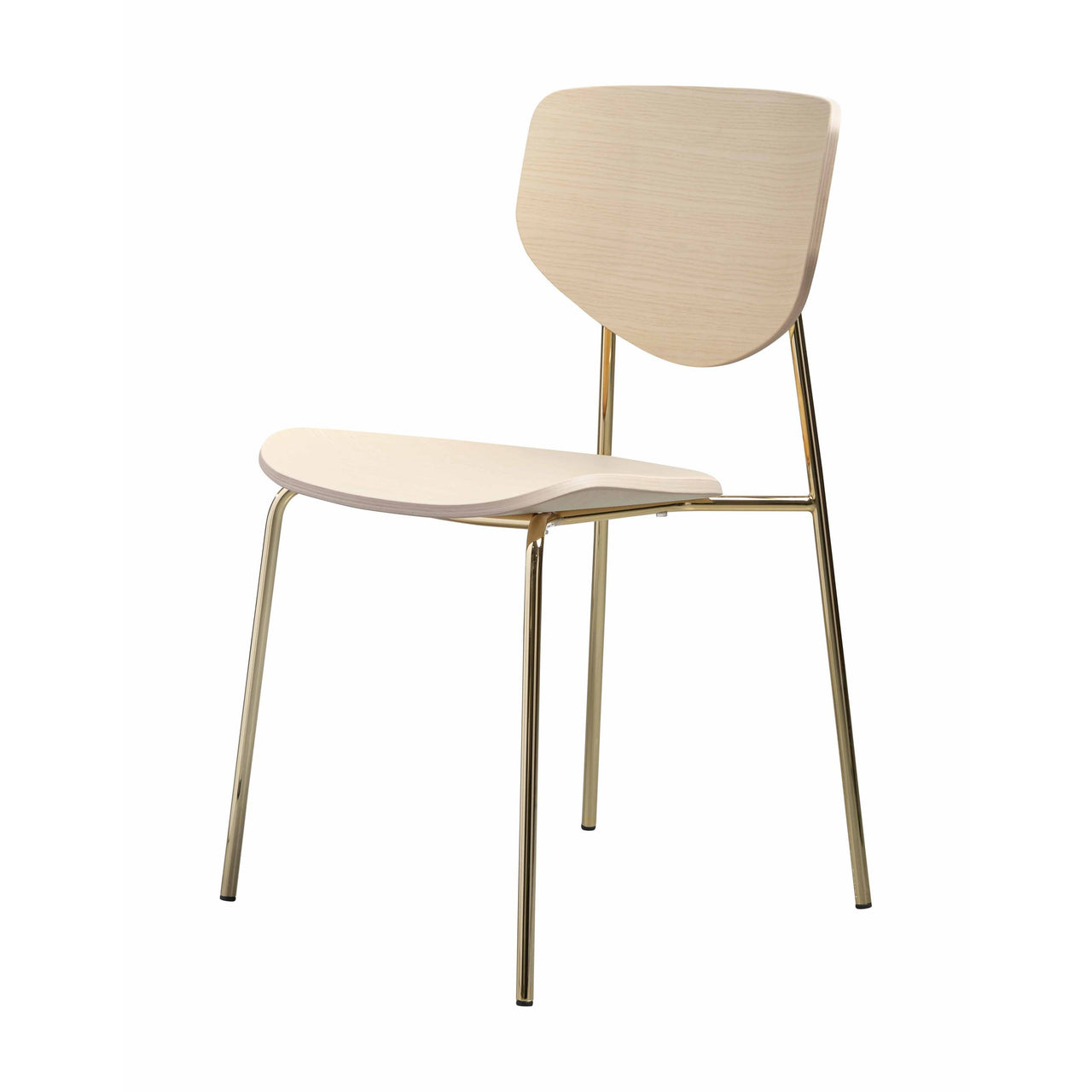 Caristo Chair: Natural Ash + Gold Chrome