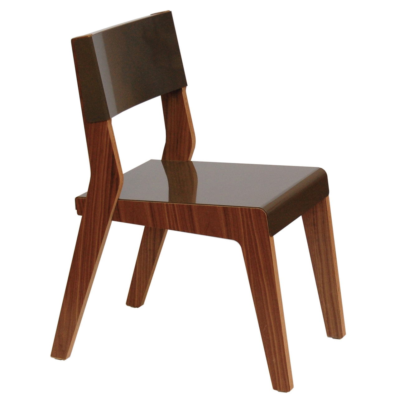 Lock Chair: Warm Grey + Walnut