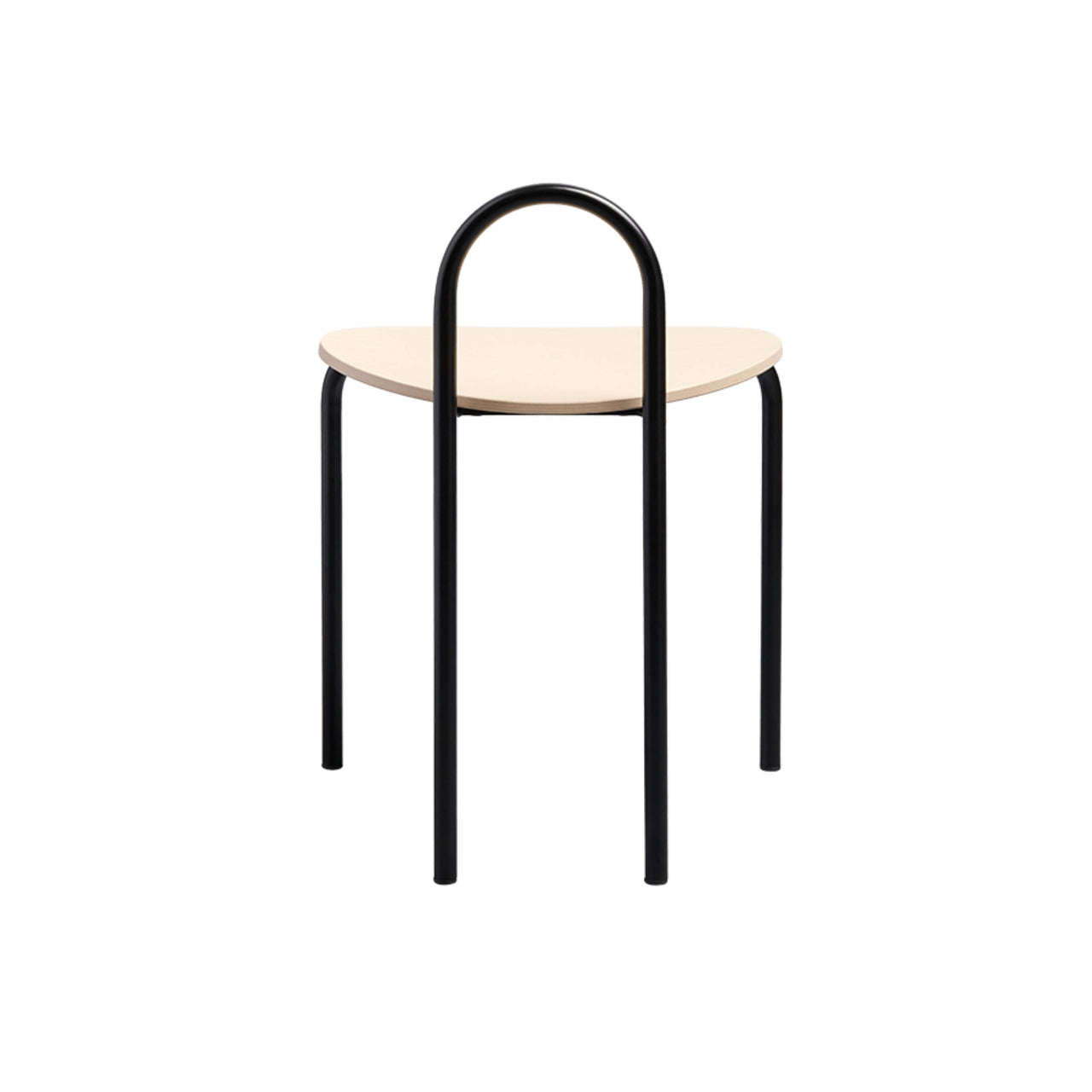 Michelle Low Stool; Natural Ash + Satin Black