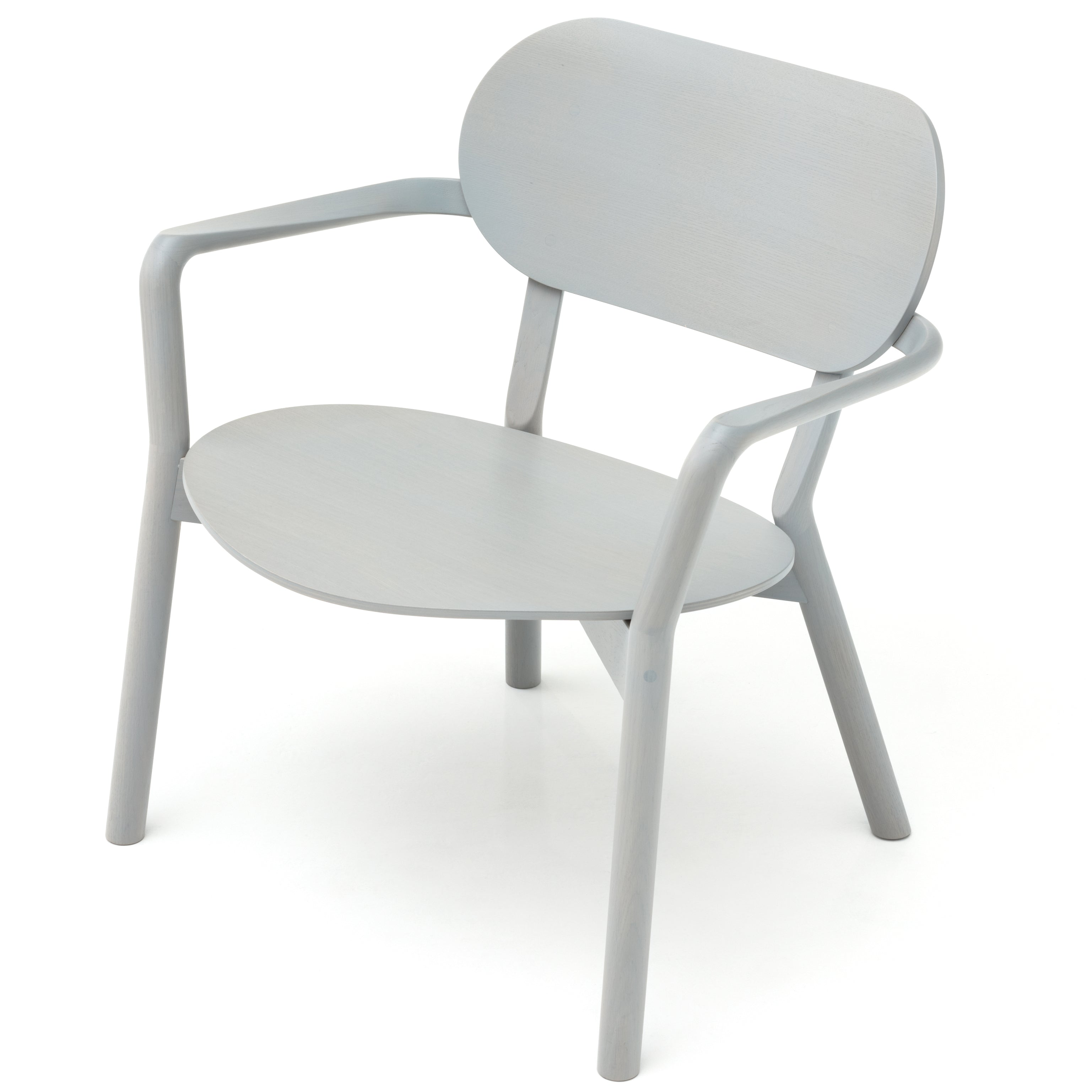 Castor Low Chair: Grain Grey + Without Pad