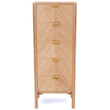 Marius Tall Chest: Natural Oak