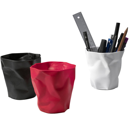 Pen Pen Pencil Holder: Black + Red + White