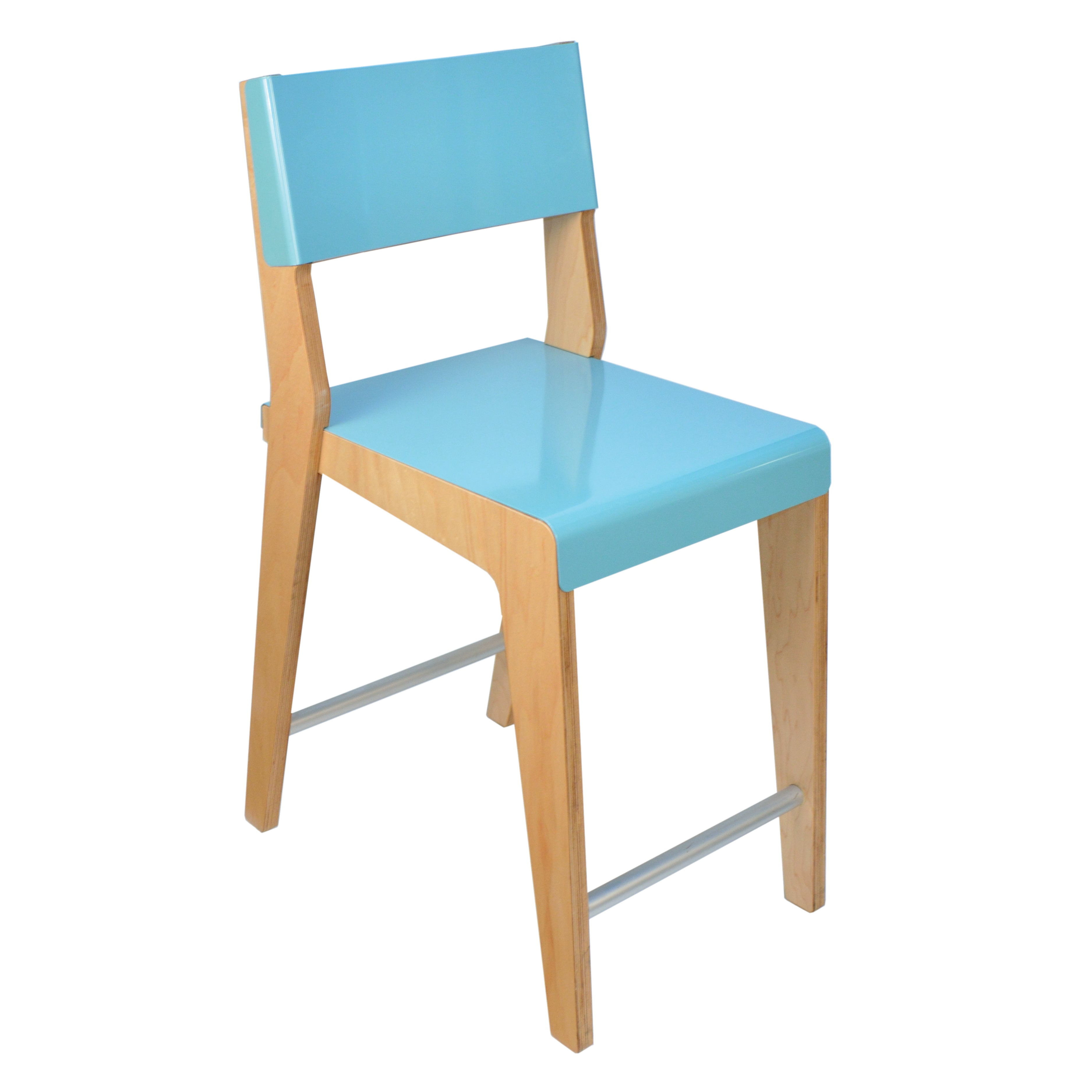 Lock Bar + Counter Stool: Counter + Light Blue + Maple
