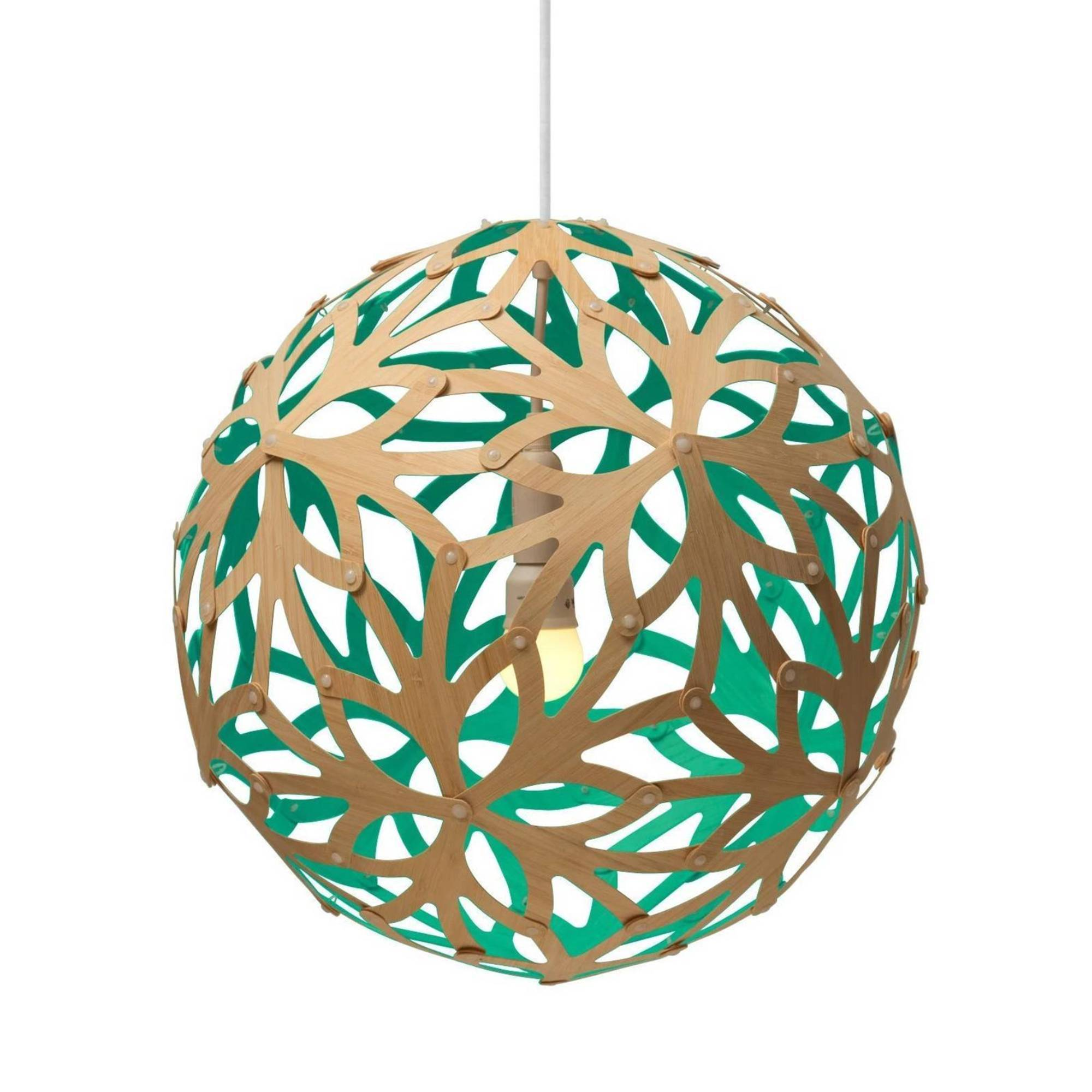 Floral Pendant Light: 800 + Aqua