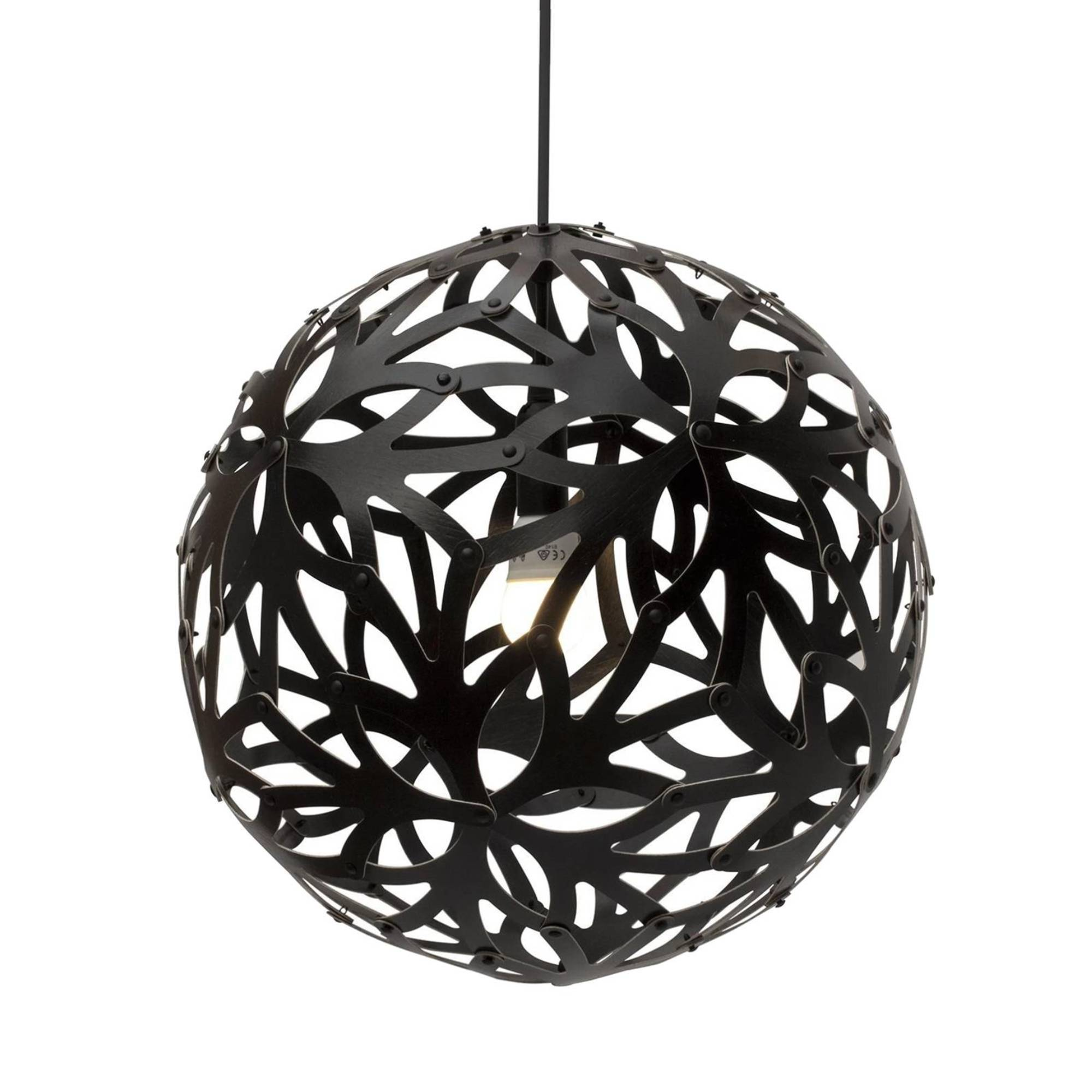 Floral Pendant Light: 800 + Black Two Sides