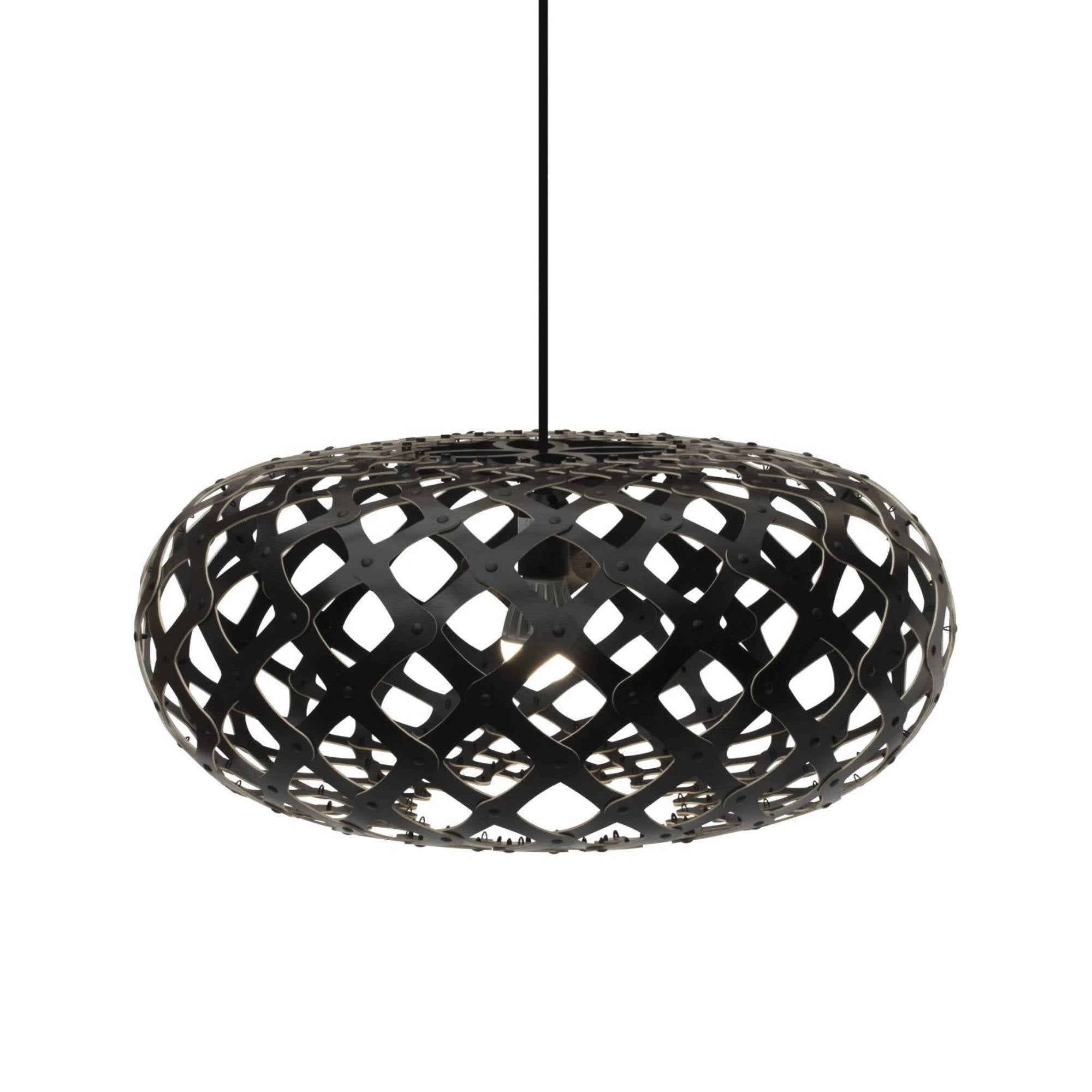Kina Pendant Light: 600 + Black Two Sides