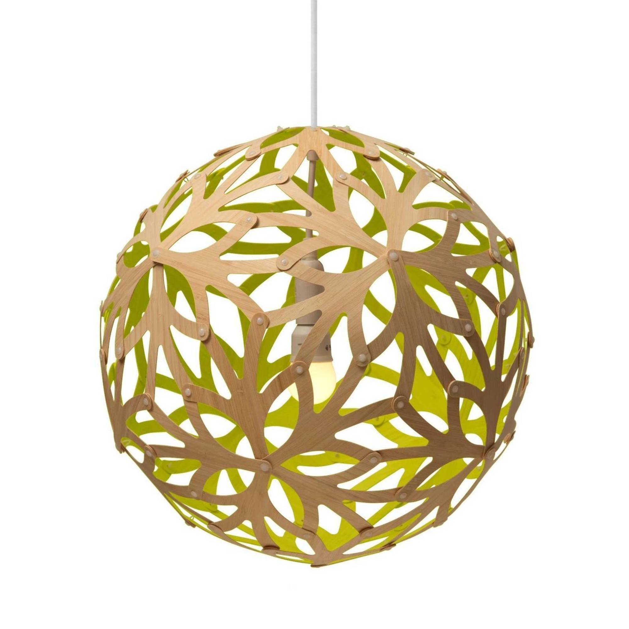 Floral Pendant Light: 800 + Lime