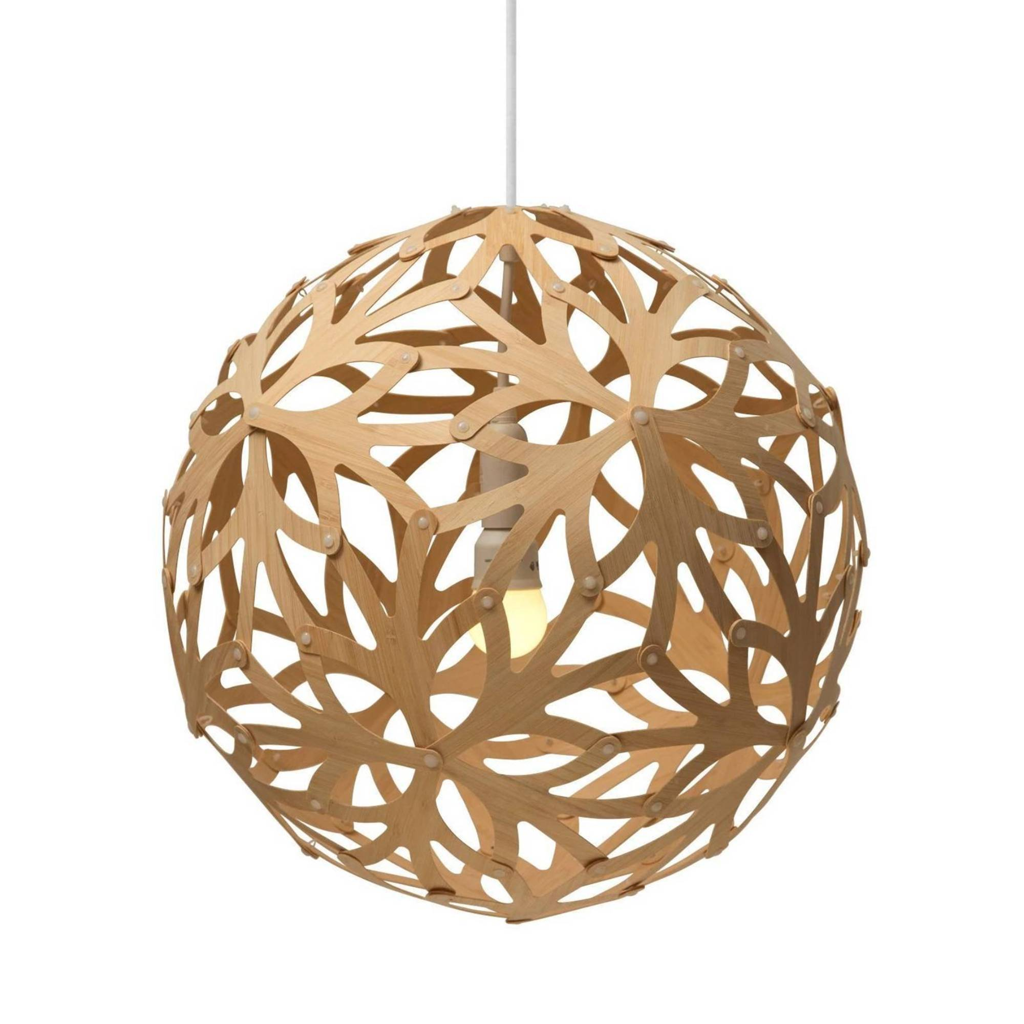 Floral Pendant Light: 800 + Natural