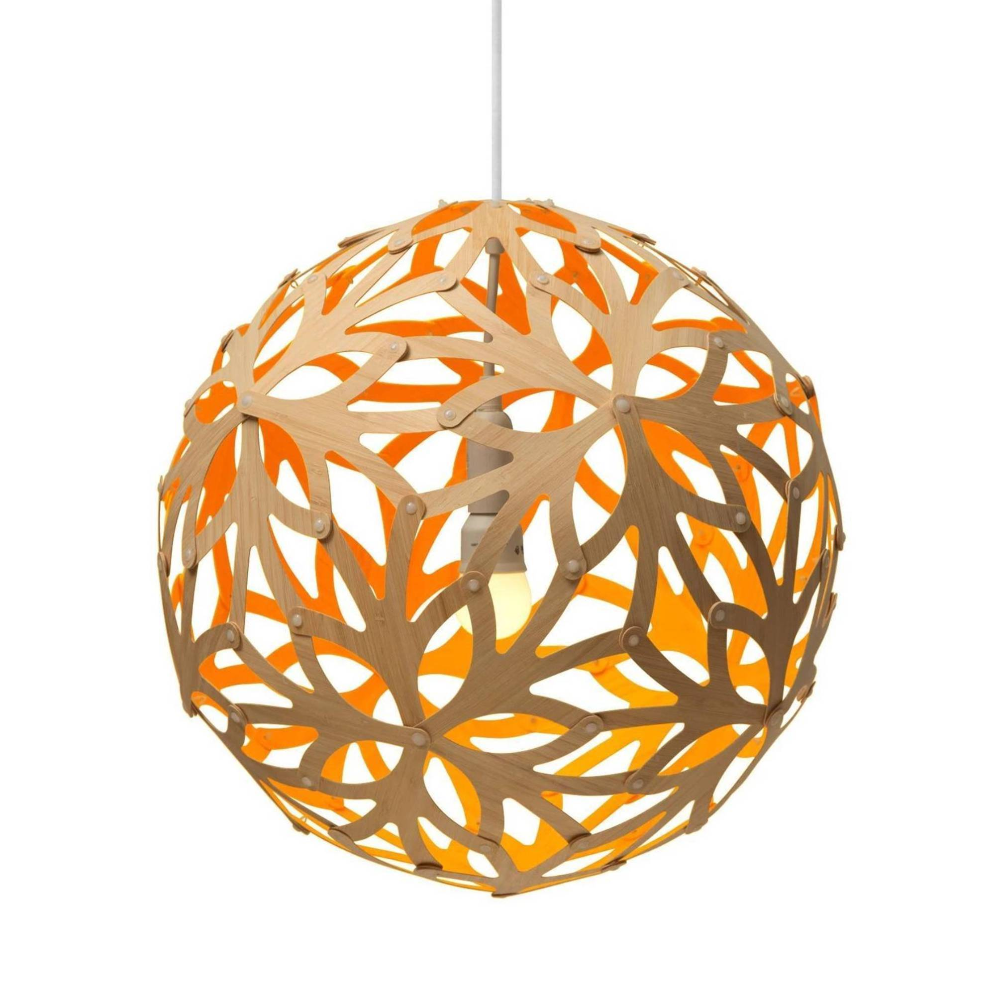 Floral Pendant Light: 800 + Orange
