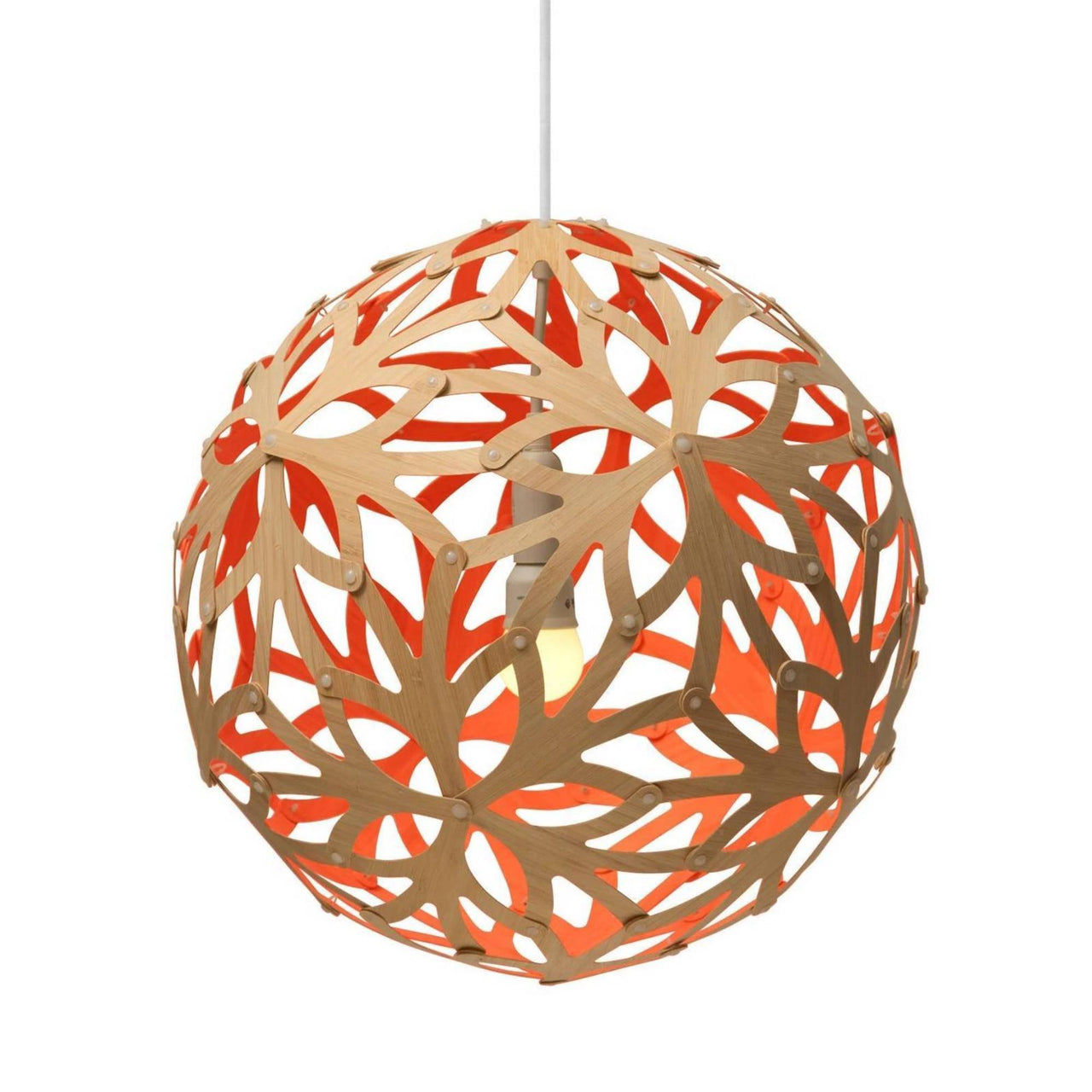 Floral Pendant Light: 800 + Red