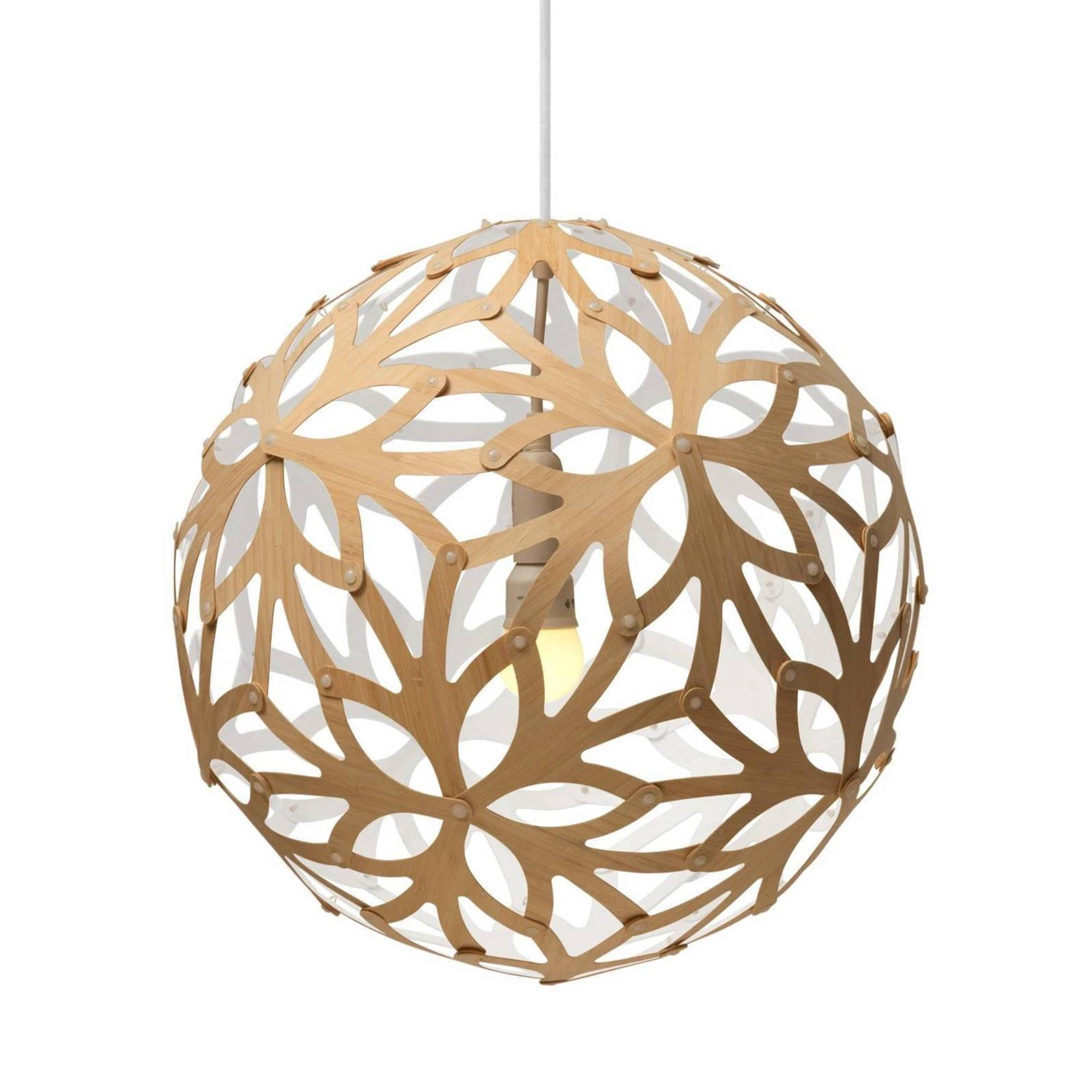 Floral Pendant Light: 800 + White