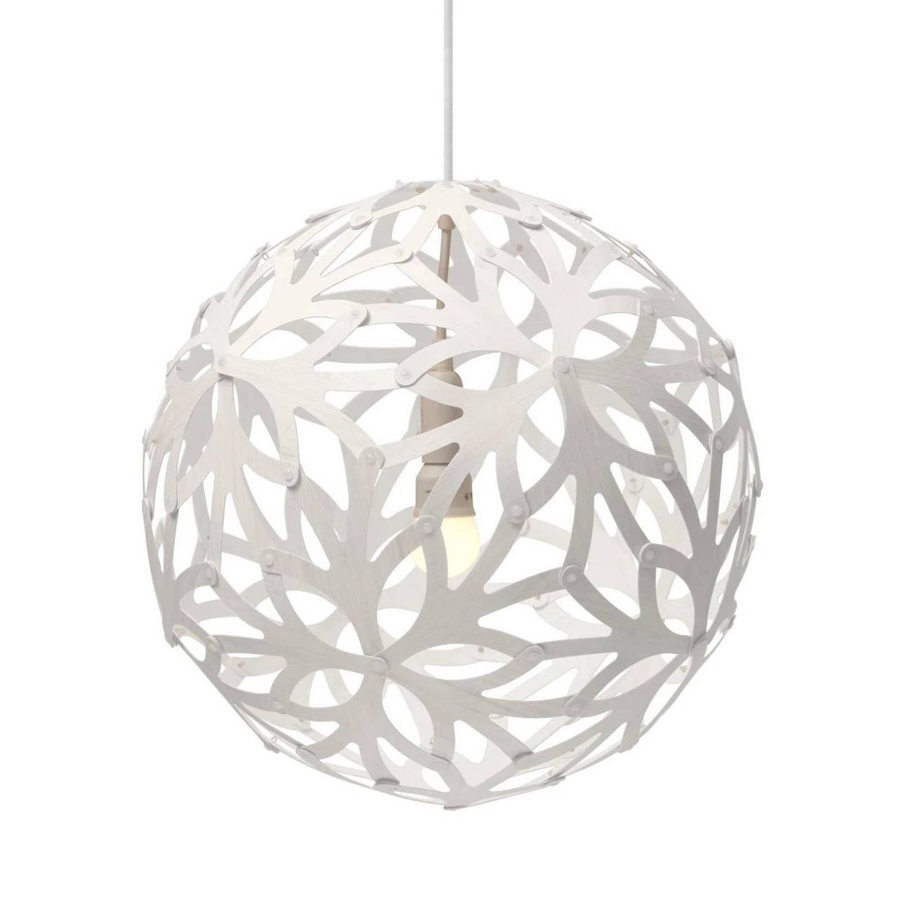 Floral Pendant Light: 800 + White Two Sides