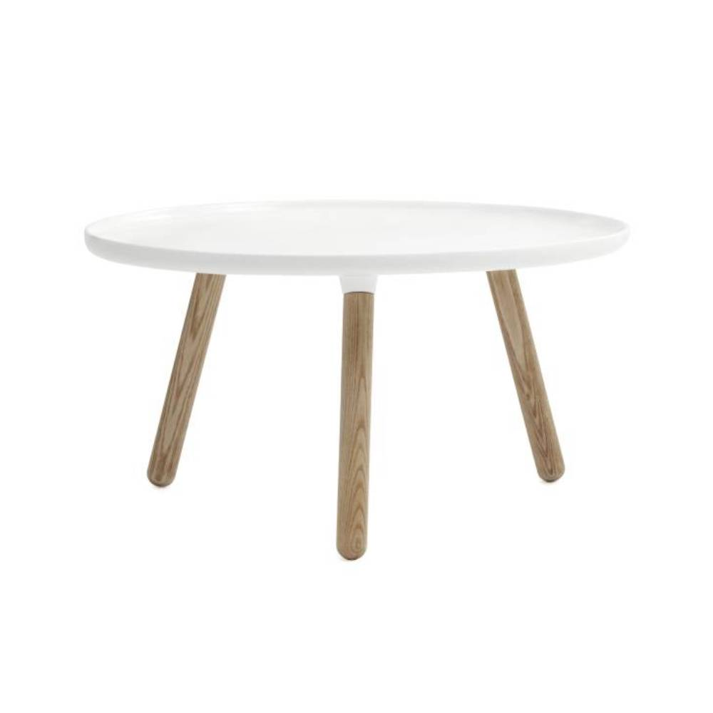 Tablo Table: Large: White + Natural