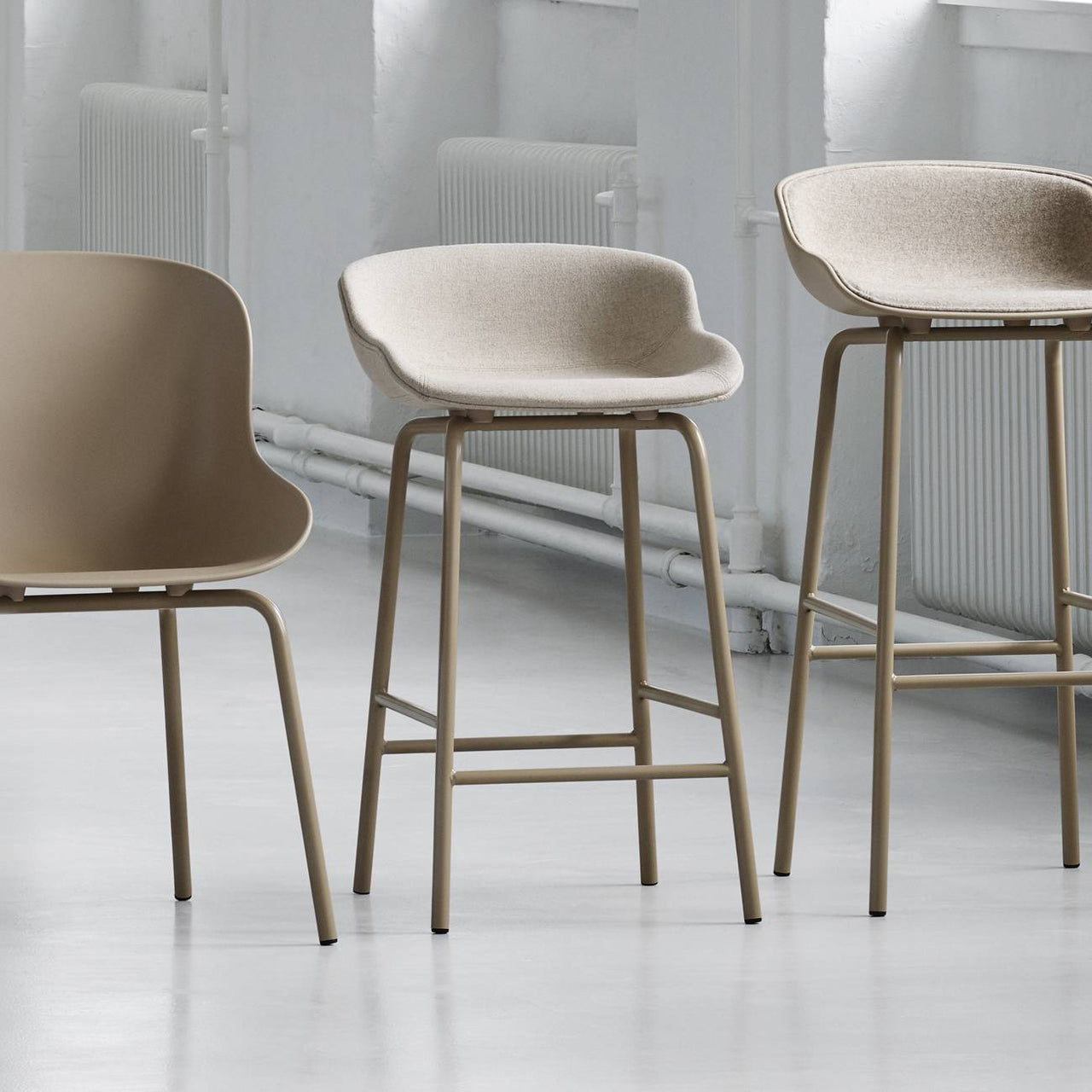 Hyg Bar + Counter stool: Fully Upholstered