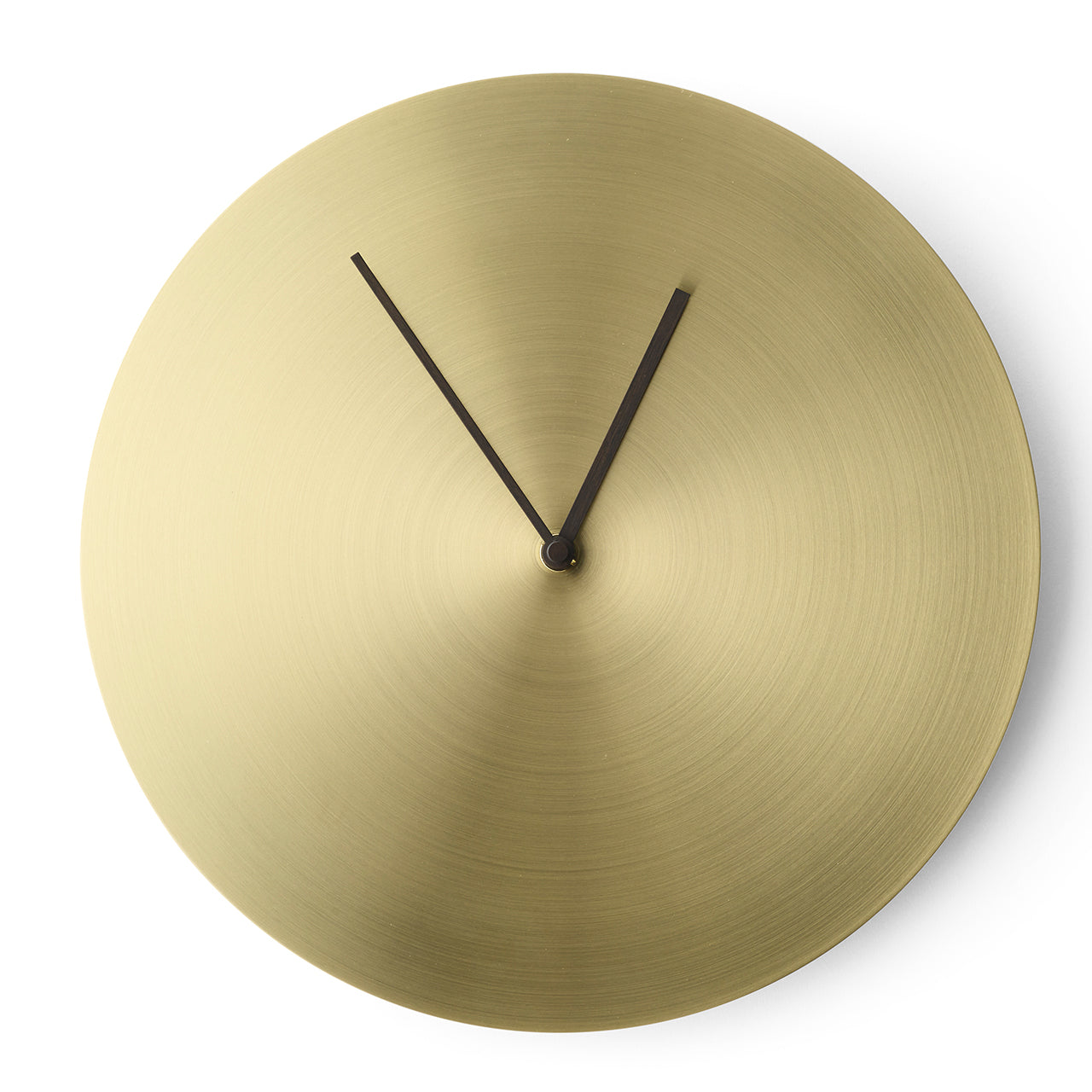 Norm Wall Clock: Brass or Steel
