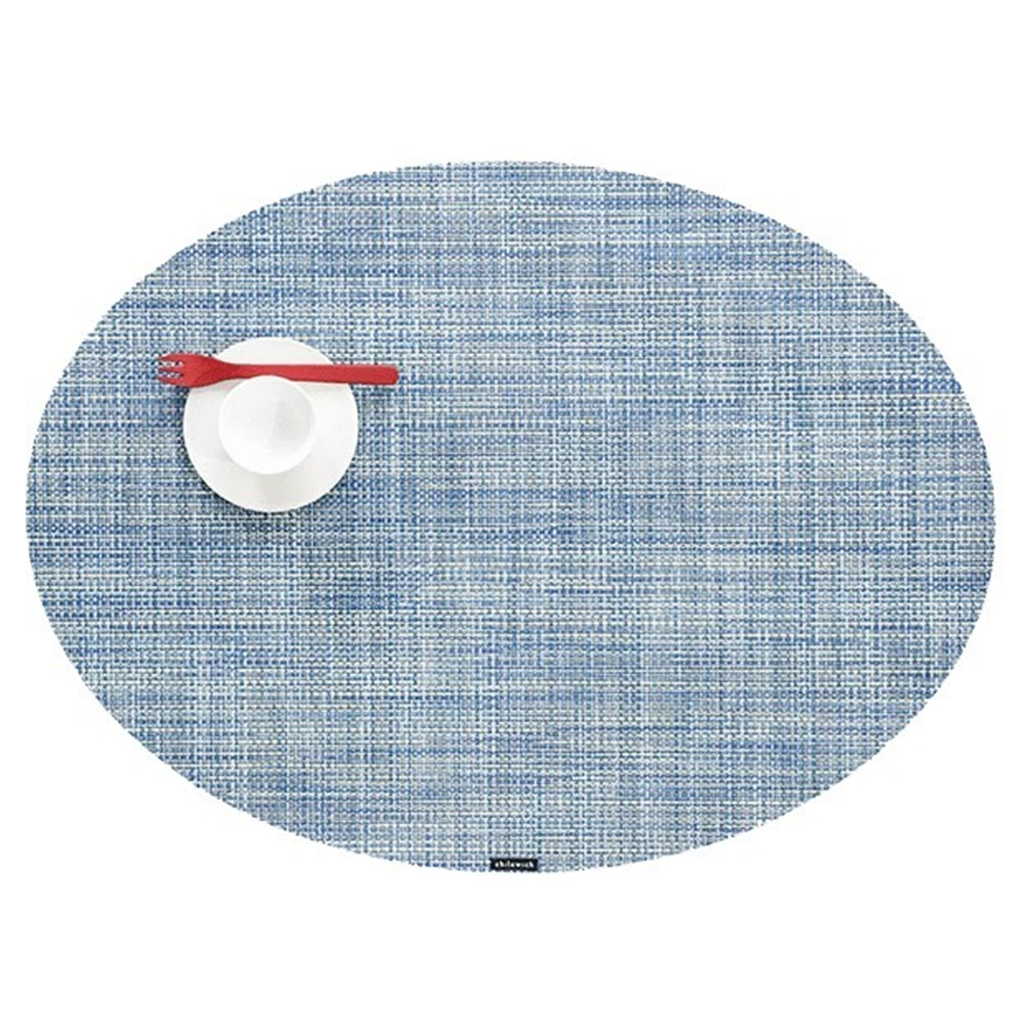 Mini Basketweave Placemats: Oval + Chambray