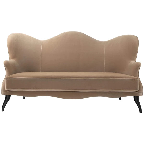 Bonaparte Sofa: Black Stained Beech