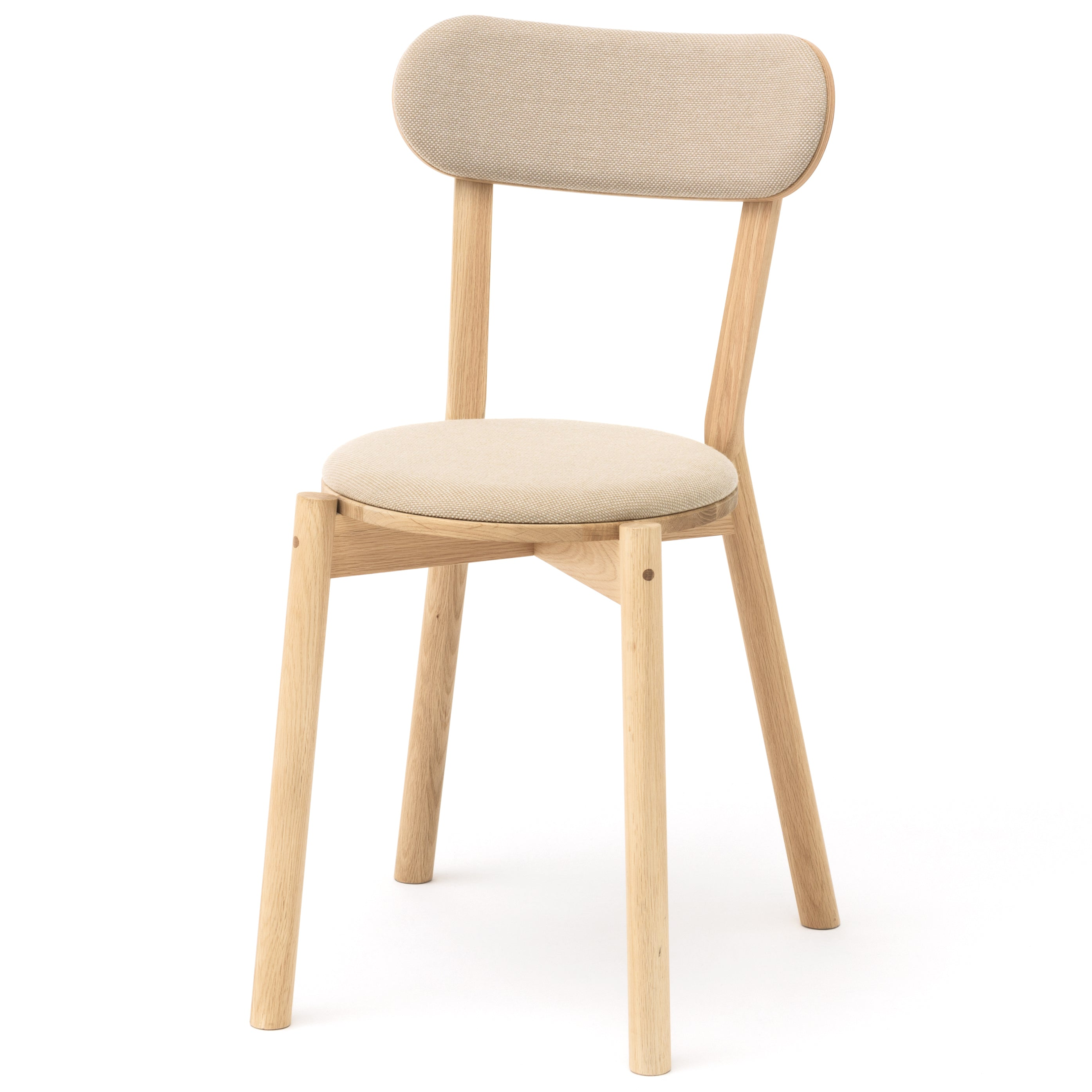 Castor Chair Pad: Natural Wood