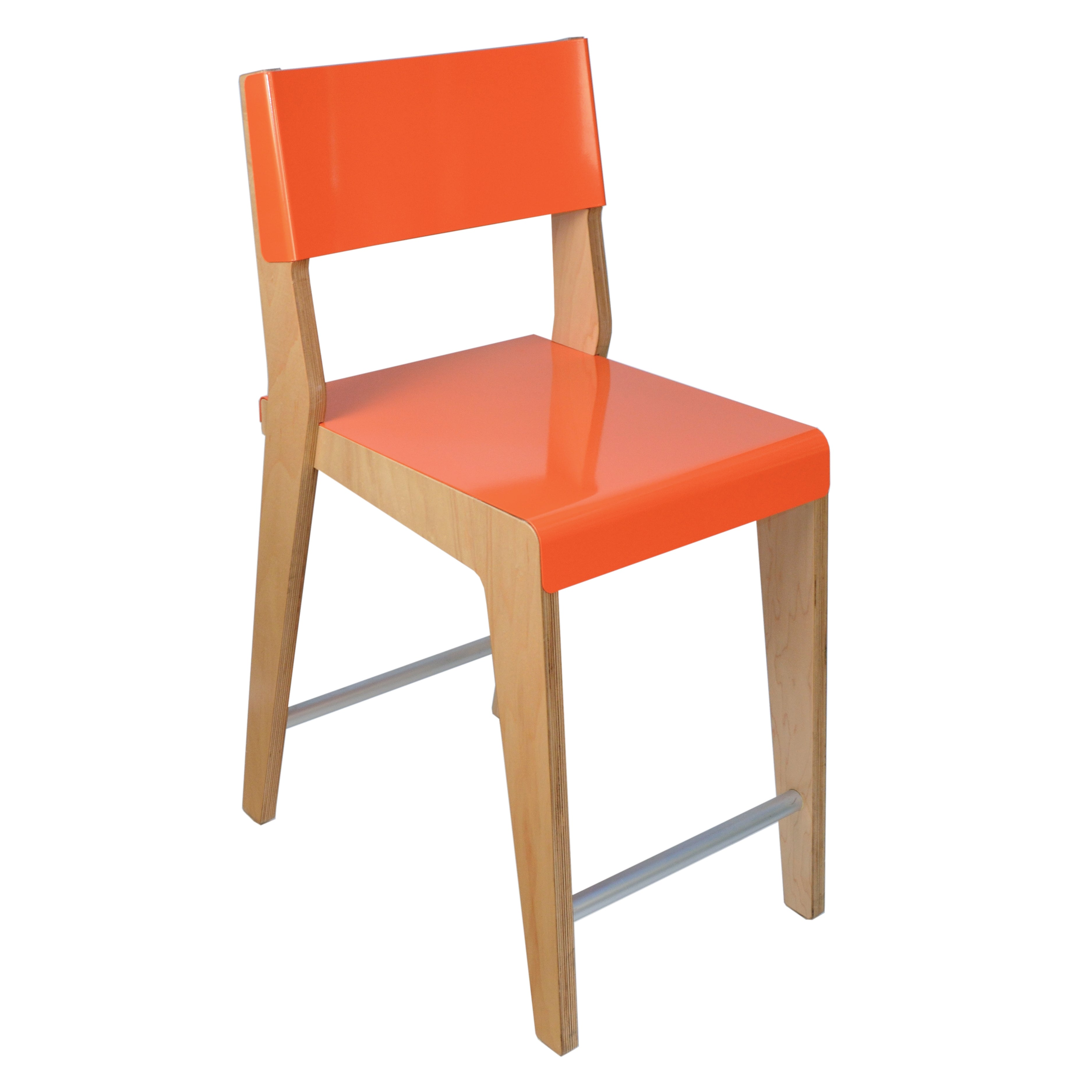 Lock Bar + Counter Stool: Counter + Orange + Maple