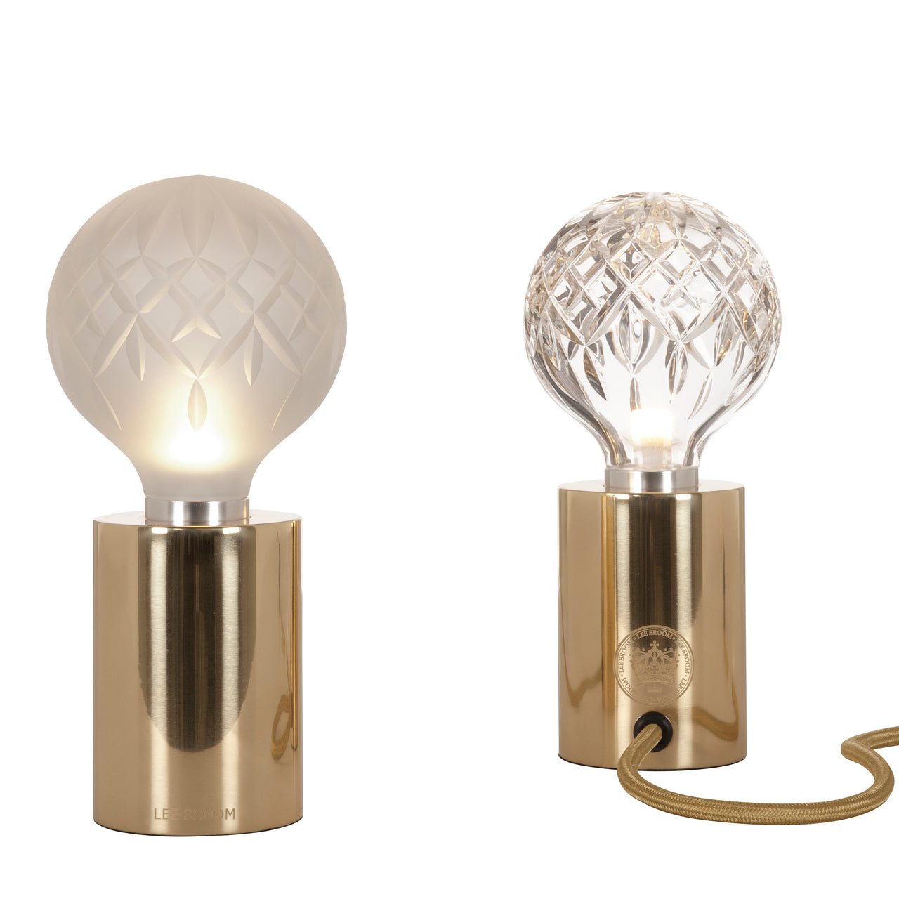 Crystal Bulb Table Lamp: Clear + Frosted