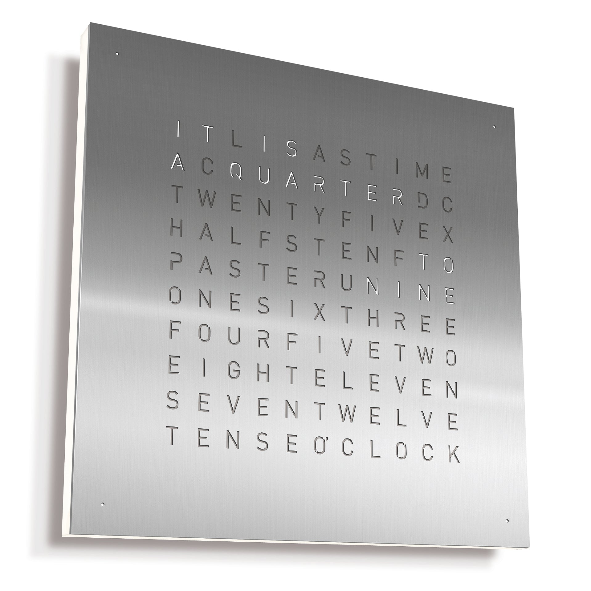 QlockTwo Classic: Stainless Steel