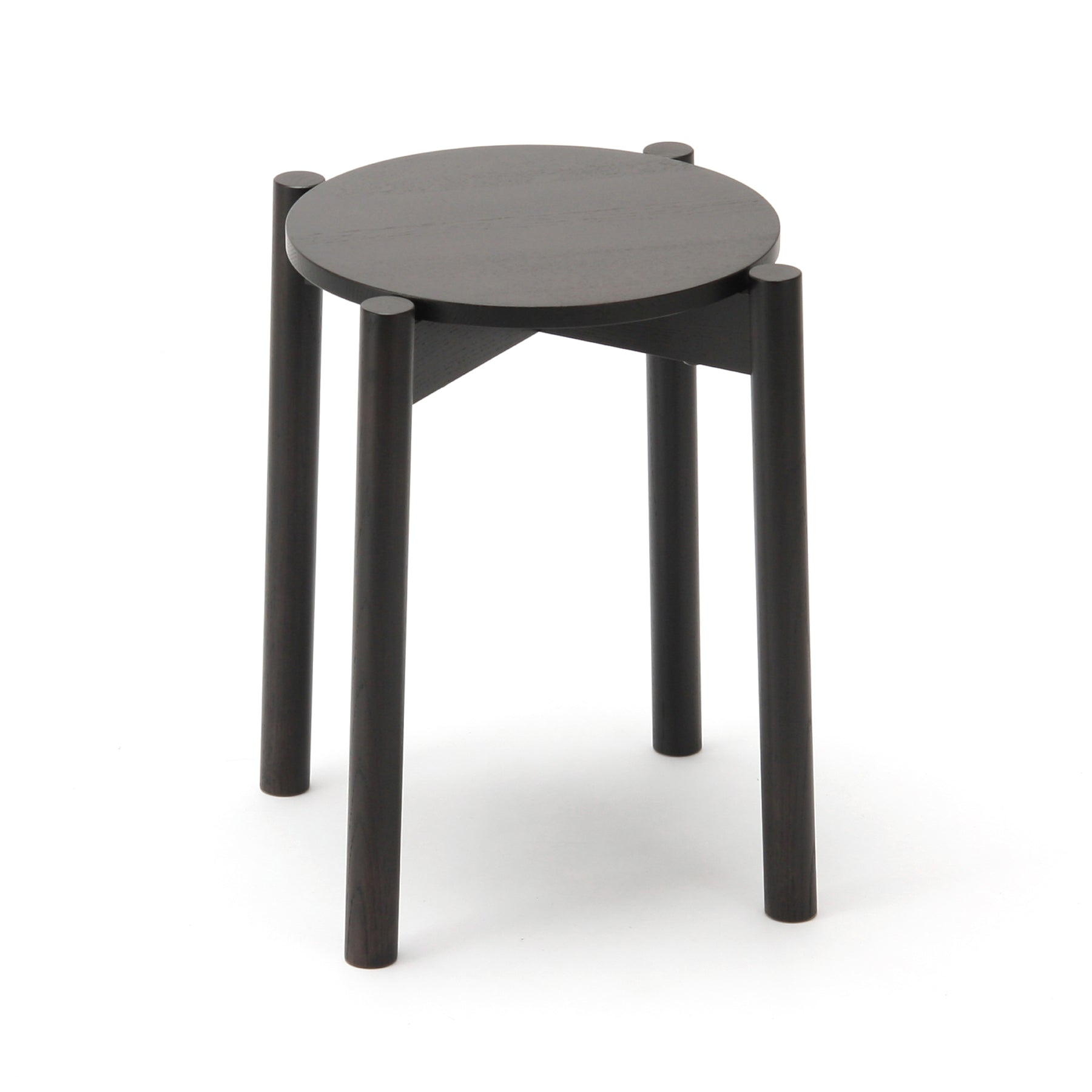 Castor Stool Plus: Black