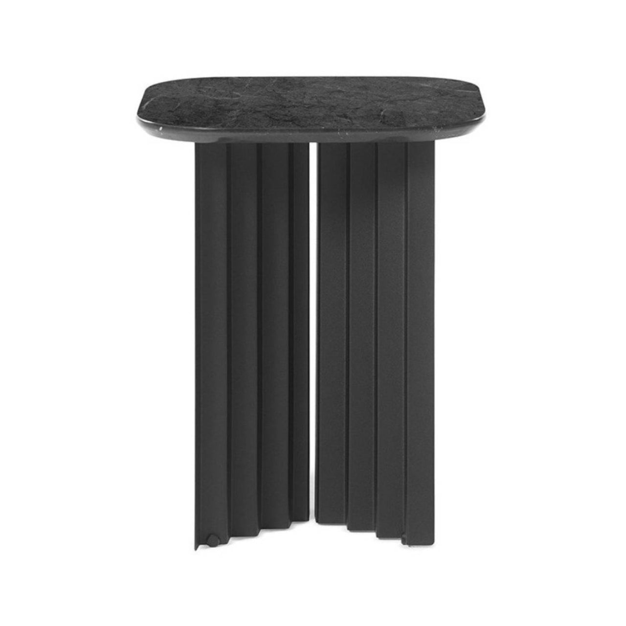 Plec Table: Marble Top: Small + Black Marquina