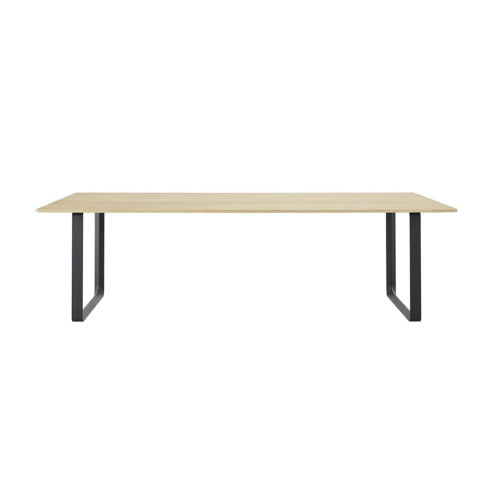 70/70 Table: Solid Oak + Extra Large + Black