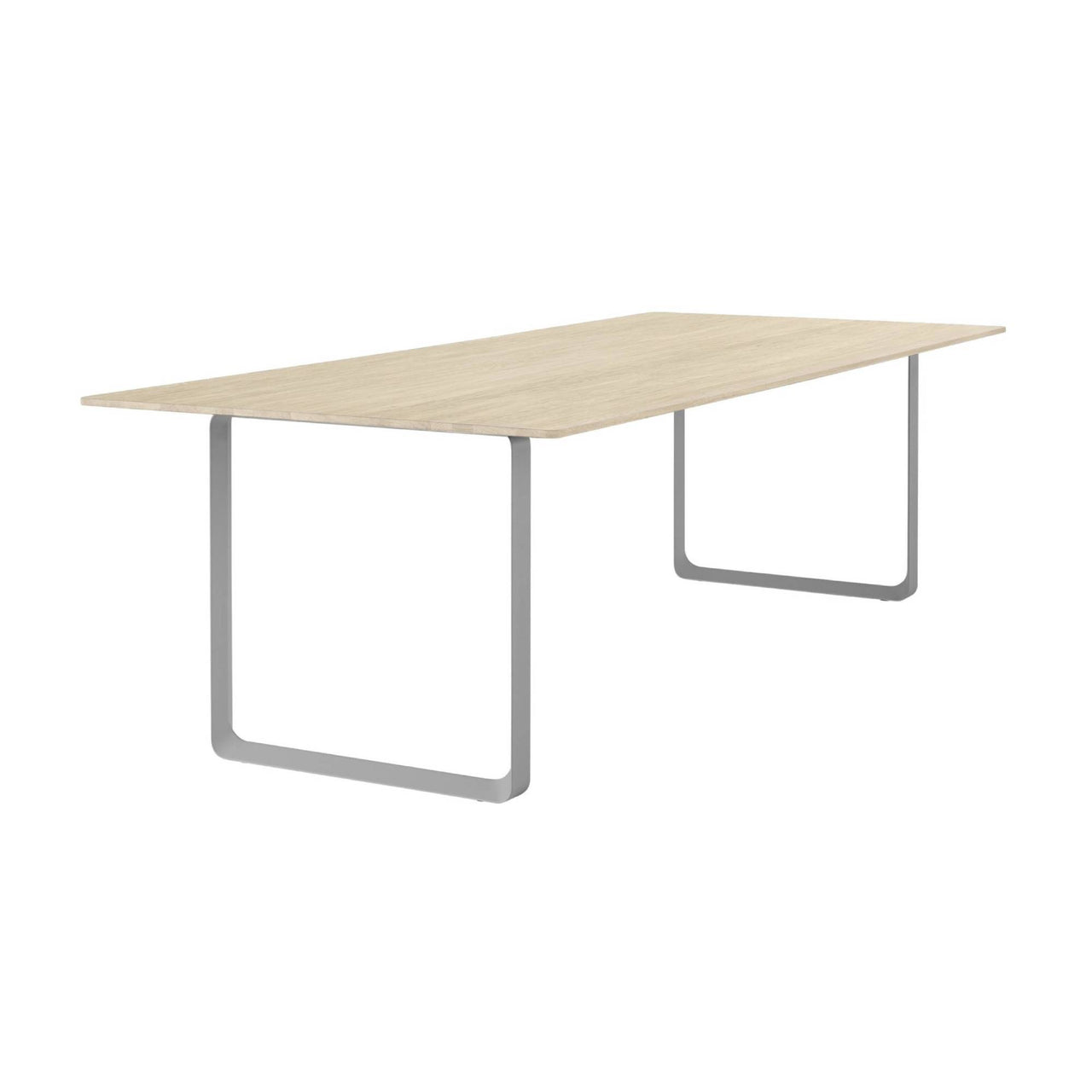 70/70 Table: Solid Oak + Extra Large + Grey