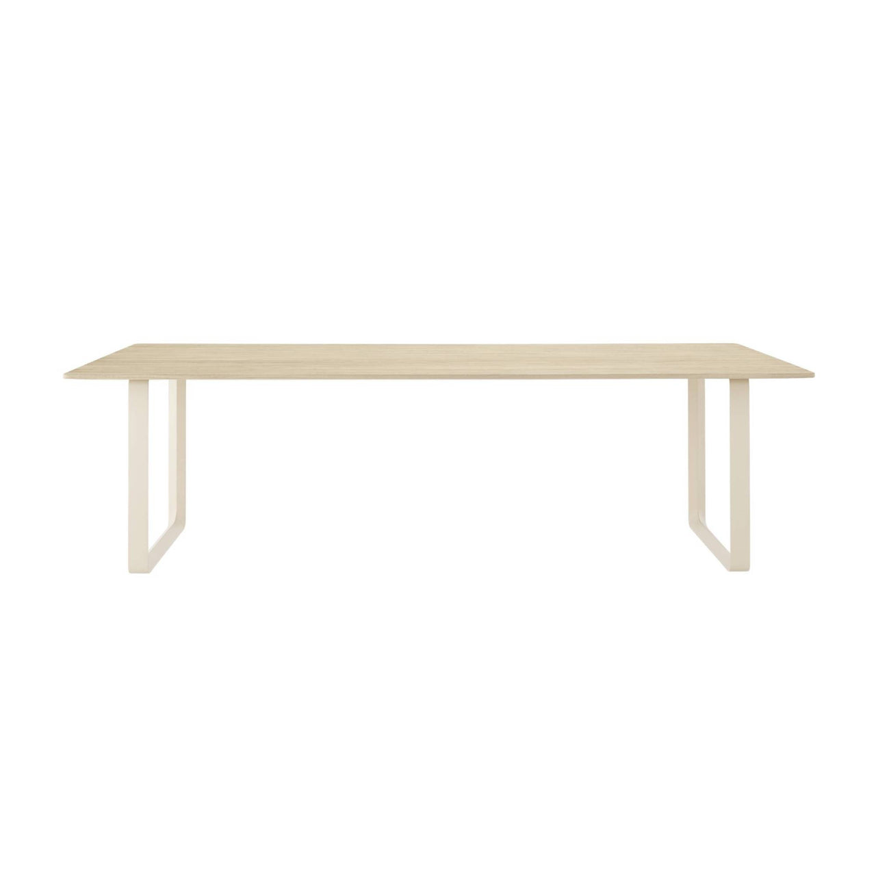 70/70 Table: Solid Oak + Extra Large + Sand