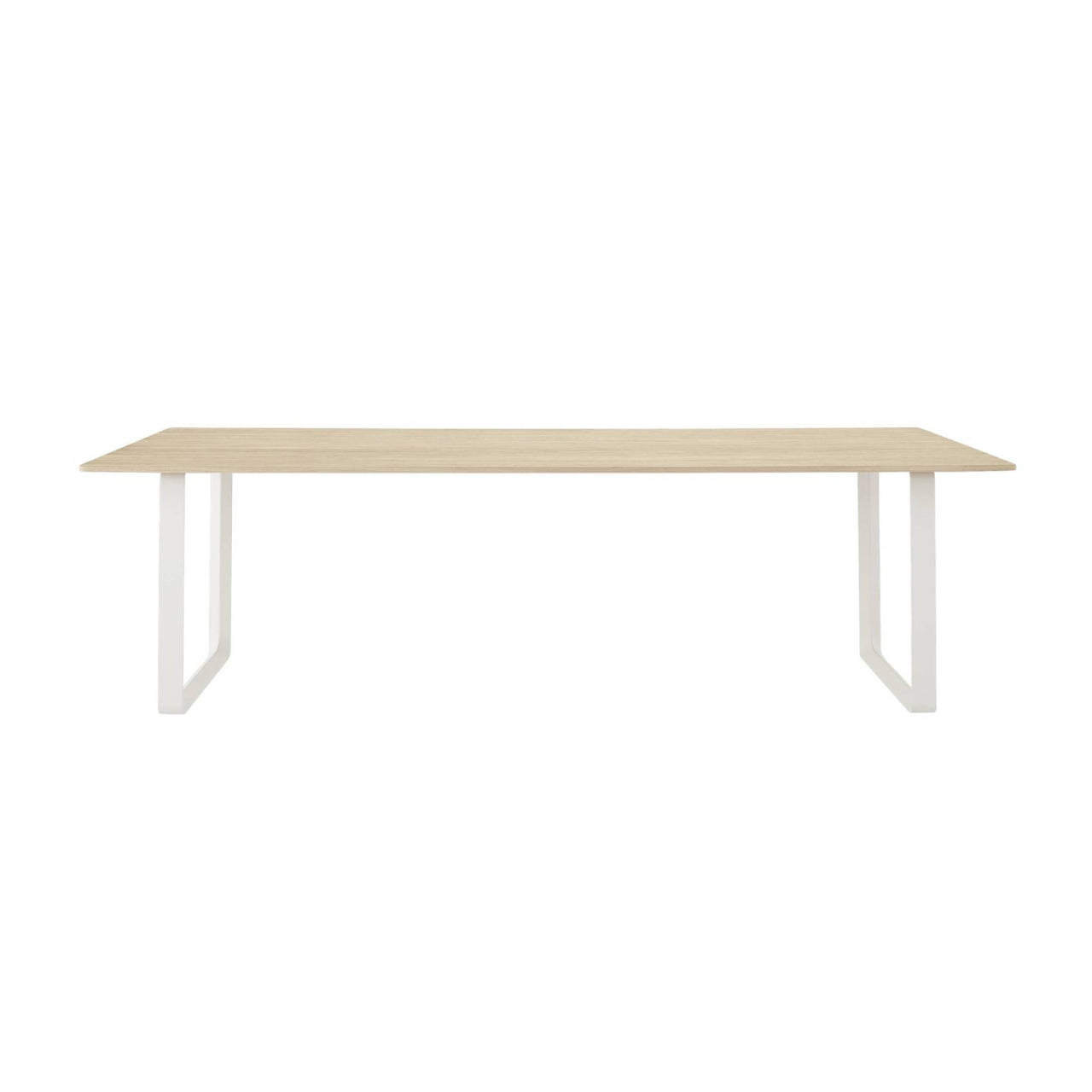 70/70 Table: Solid Oak + Extra Large + White