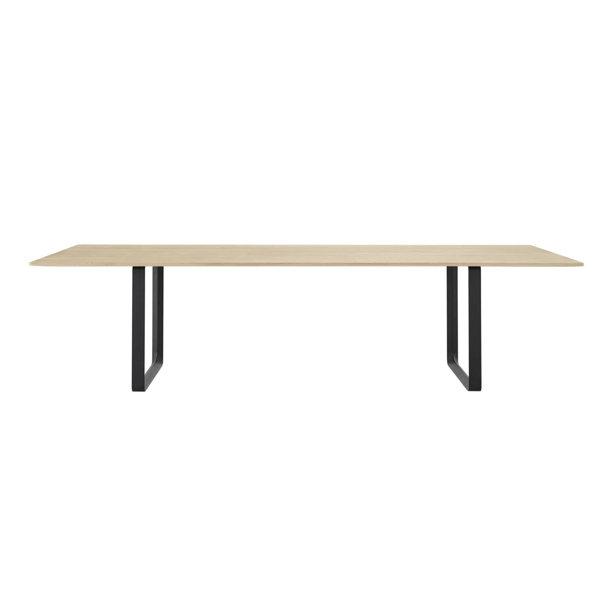 70/70 Table: Solid Oak + XX Large + Black