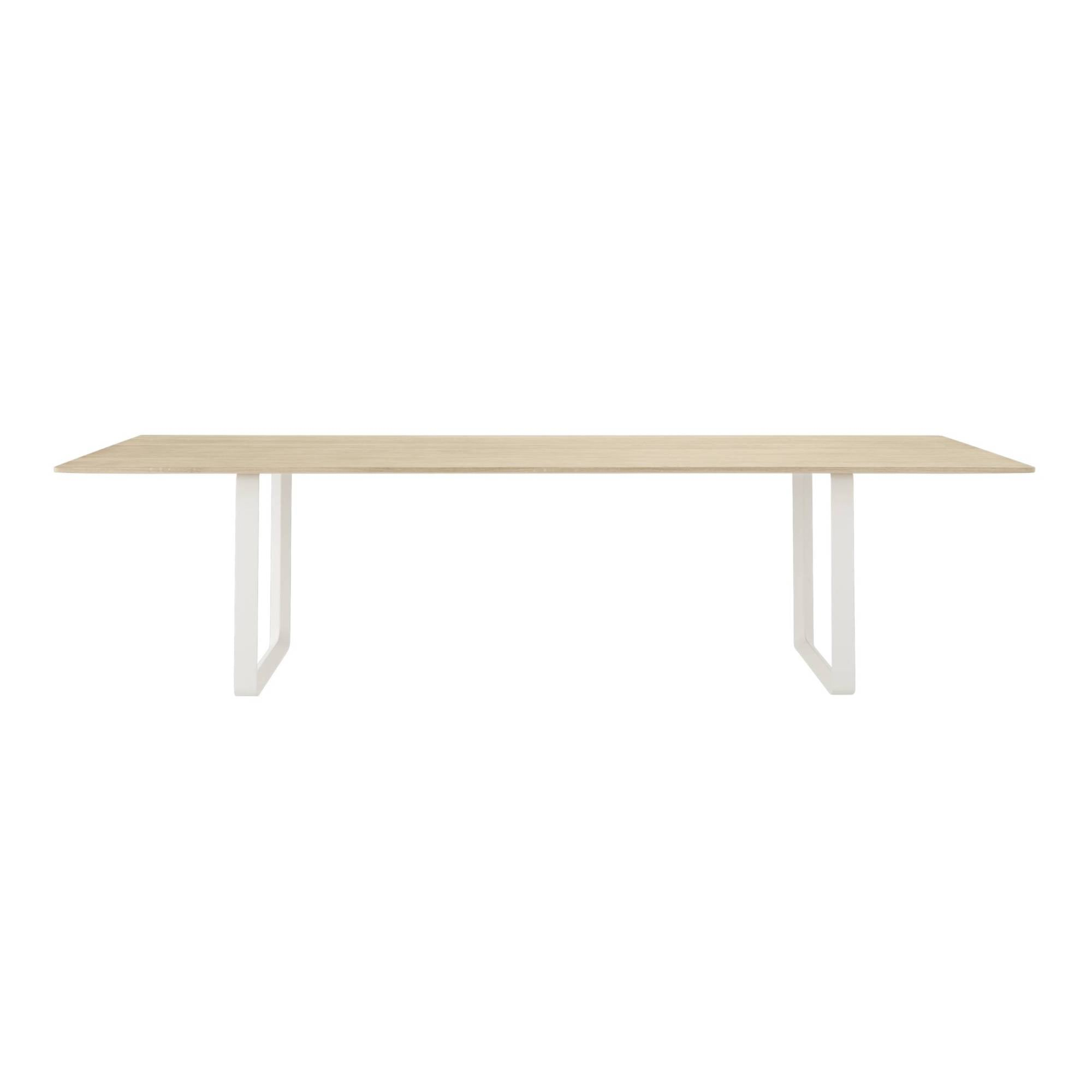70/70 Table: Solid Oak + XX Large + White