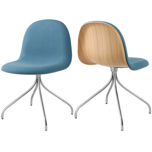 3D Meeting Chair: Swivel Base + Front Upholstery