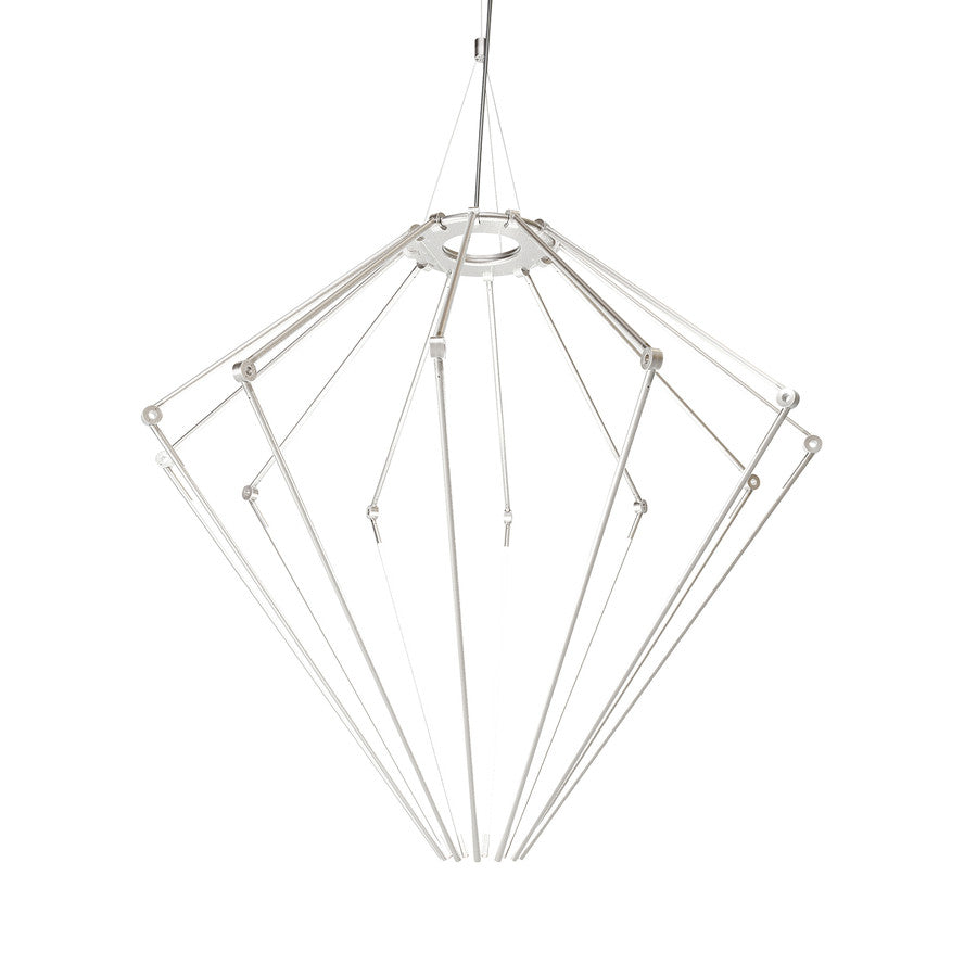 Thin Chandelier: Large + Satin Nickel