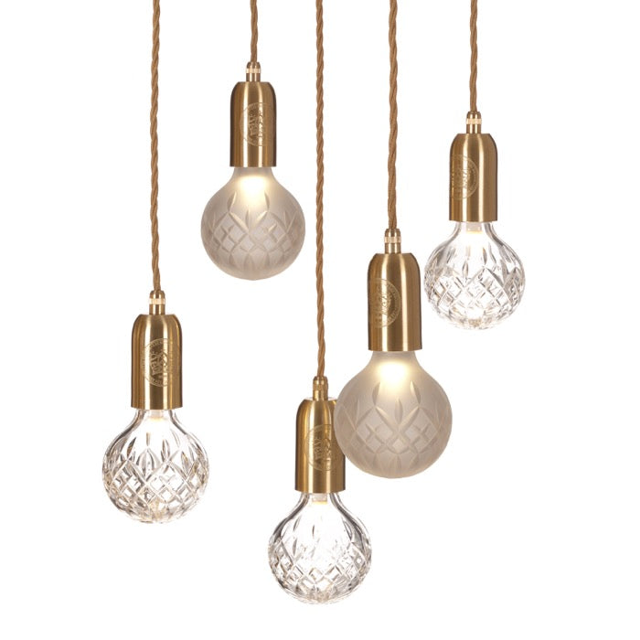 Crystal Bulb Chandelier: Clear + Frosted