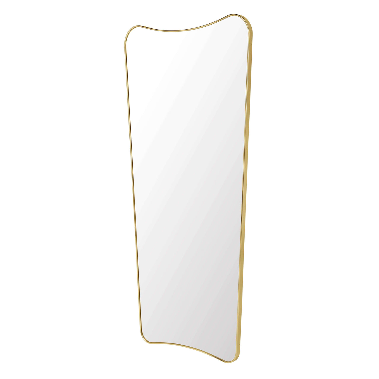 F.A. 33 Rectangular Wall Mirror: Large + Polished Brass