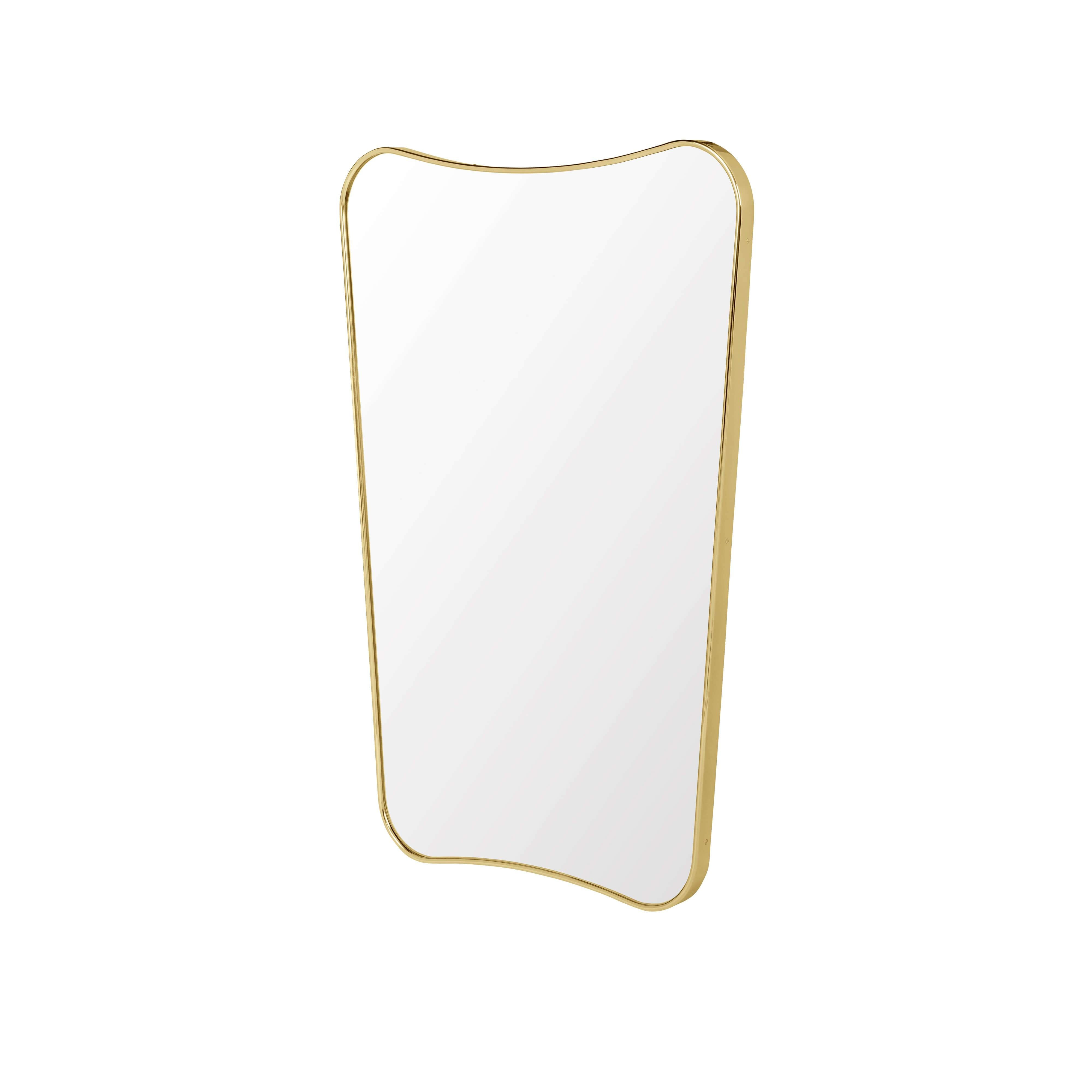 F.A. 33 Rectangular Wall Mirror: Small + Polished Brass