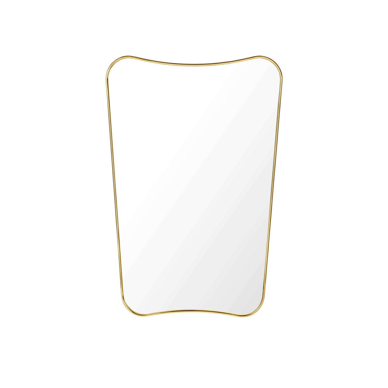 F.A. 33 Rectangular Wall Mirror: Small +Polished Brass