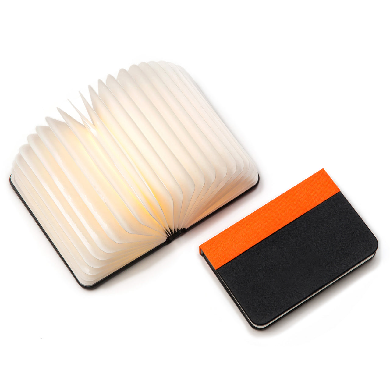 Mini Lumio+ Book Lamp: Orange/Black