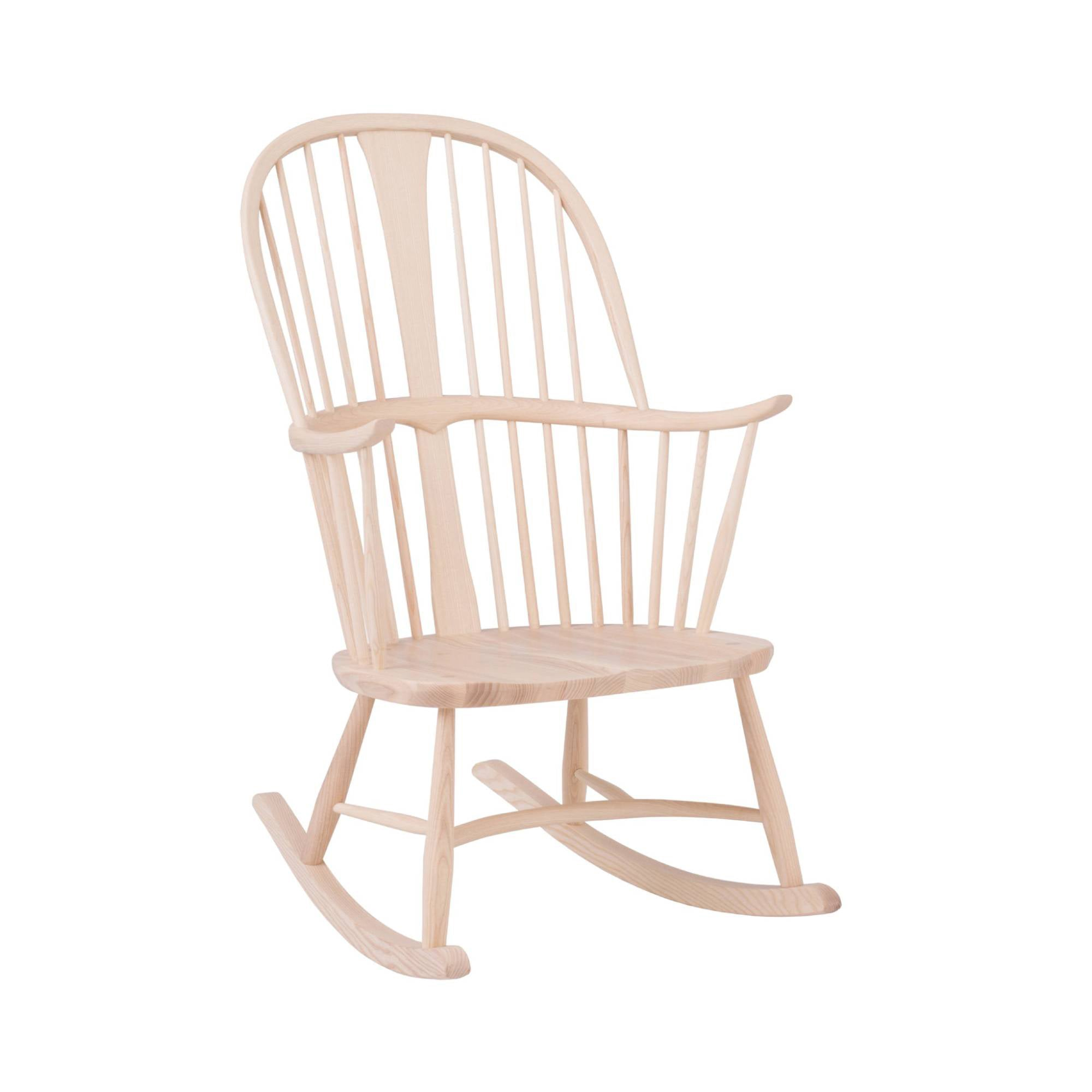 Originals Chairmakers Rocking Chair: Whitened Ash