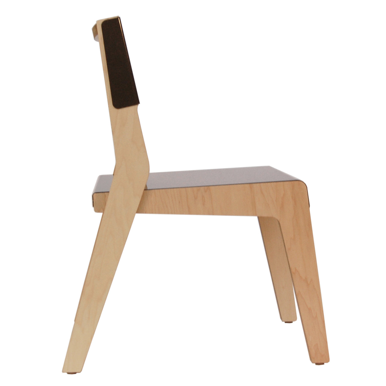 Lock Chair: Warm Grey + Maple