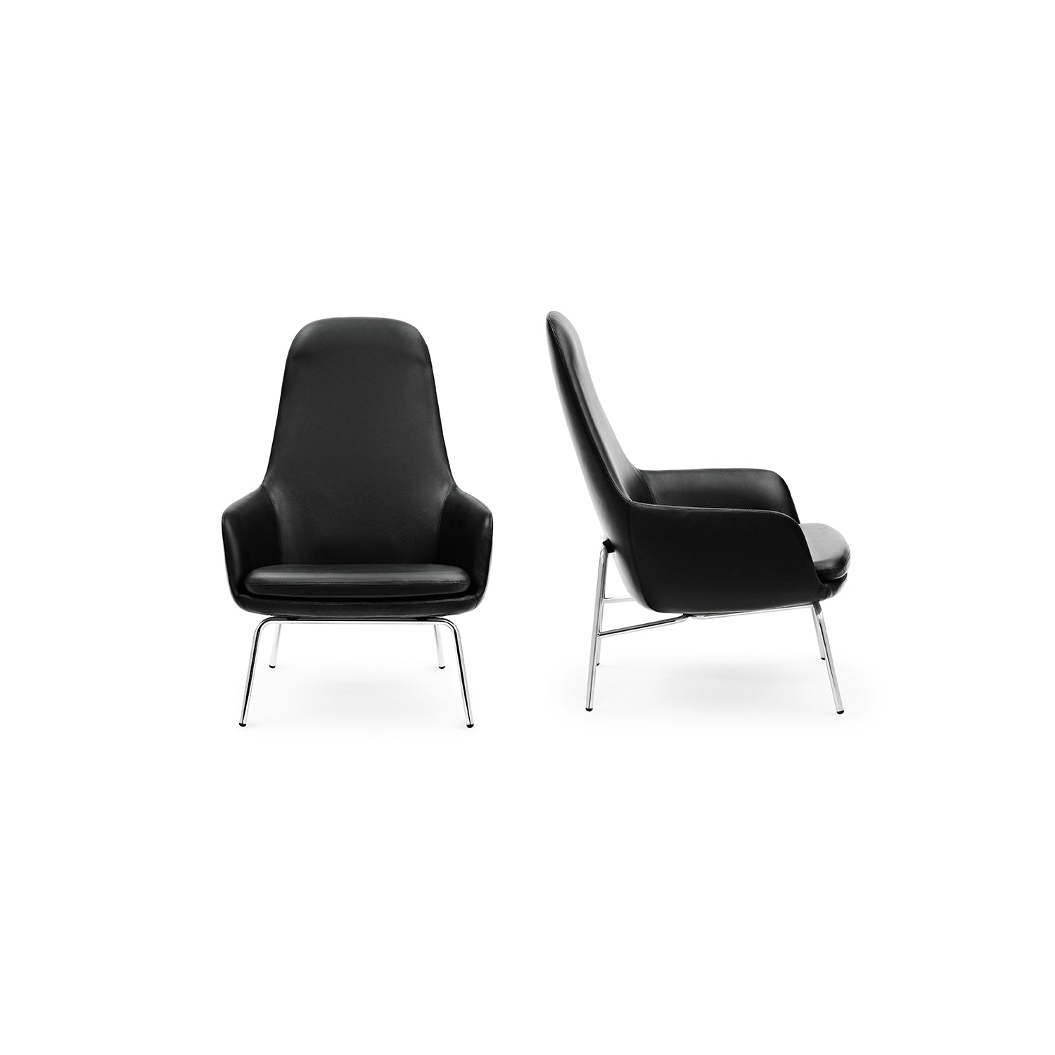 Era Lounge Chair: High + Steel or Chrome Base