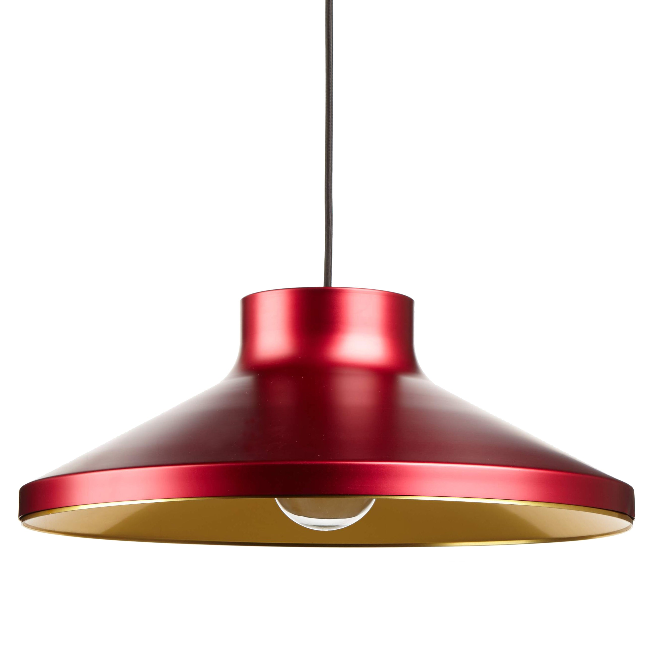 VGP1 Pendant Light: Red + Brass
