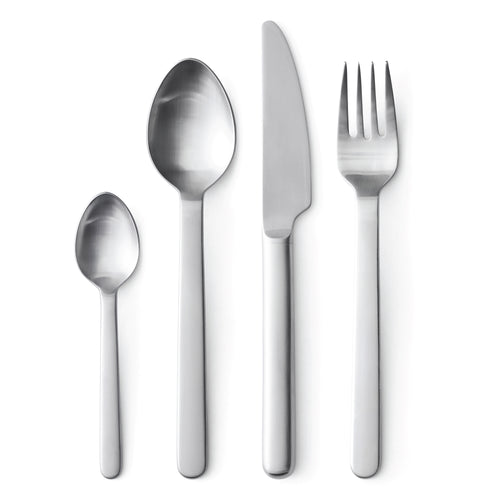New Norm Flatware: Brushed Steel