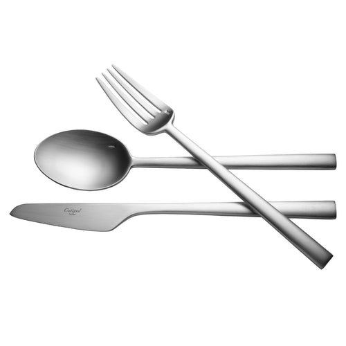 Rondo Flatware: Brushed Steel