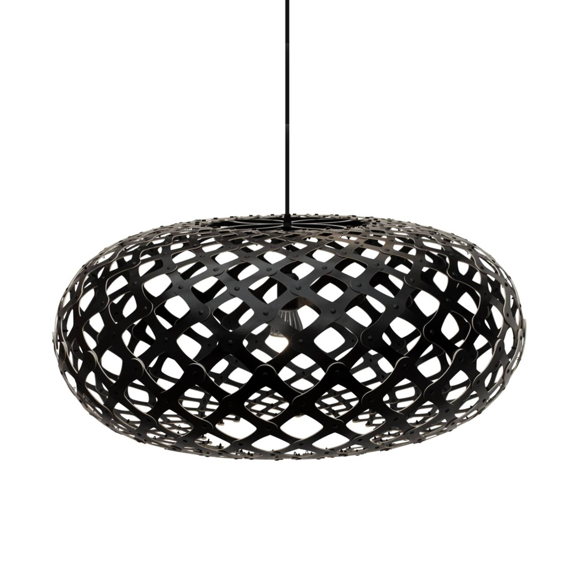 Kina Pendant Light: 800 + Black Two Sides