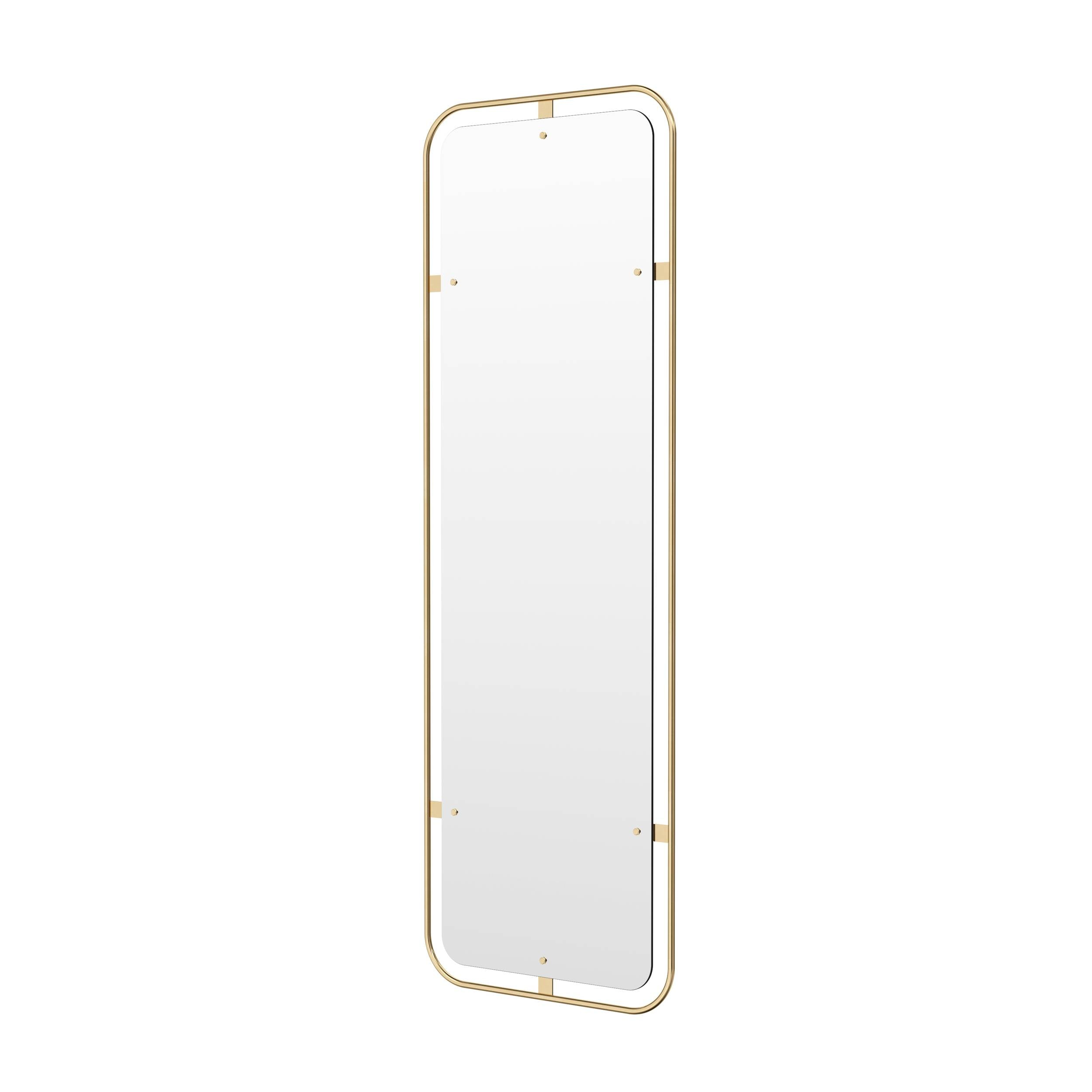 Nimbus Rectangular Mirror: Polished Brass
