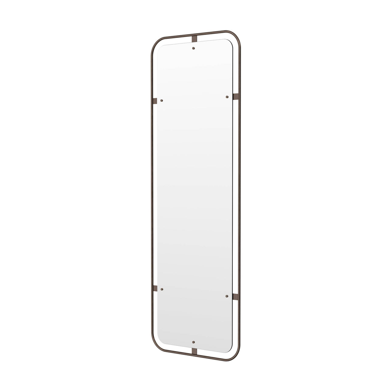 Nimbus Rectangular Mirror: Bronzed Brass