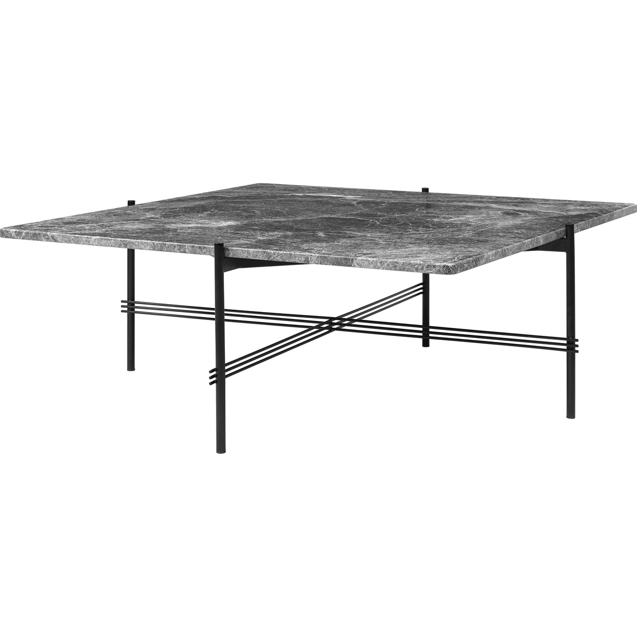 TS Square Coffee Table: Medium + Grey Emperador Marble